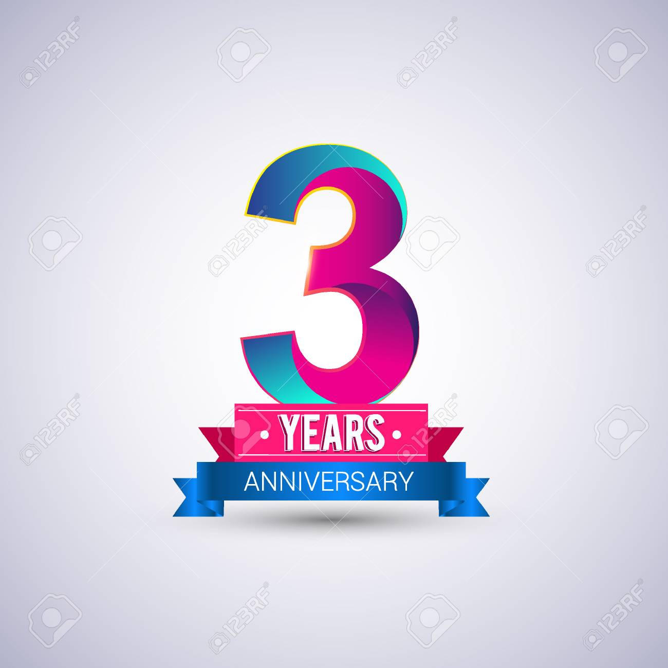 3 years anniversary logo blue and red colored vector design royalty 3 years anniversary logo blue and red colored vector design stock vector 74493344 altavistaventures Image collections