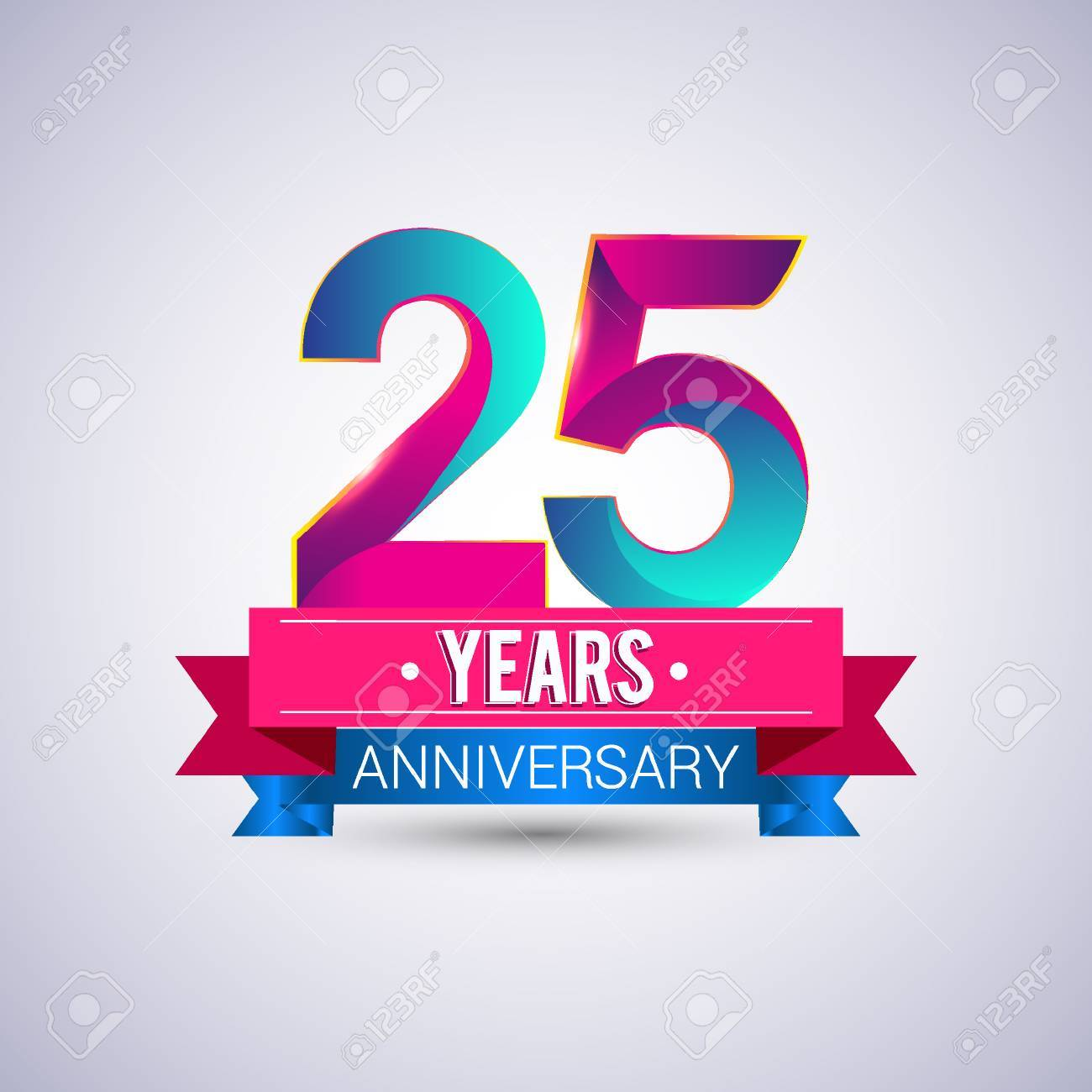 25 years anniversary logo blue and red colored vector design 25 years anniversary logo blue and red colored vector design stock vector 74493393 altavistaventures Image collections