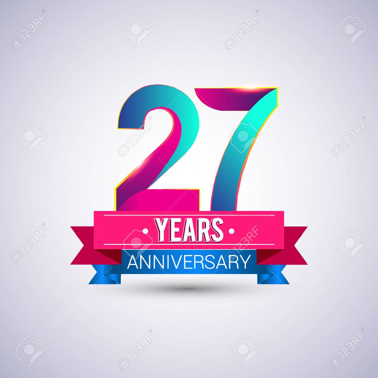 27 years anniversary logo blue and red colored vector design 27 years anniversary logo blue and red colored vector design stock vector 74493397 biocorpaavc Images