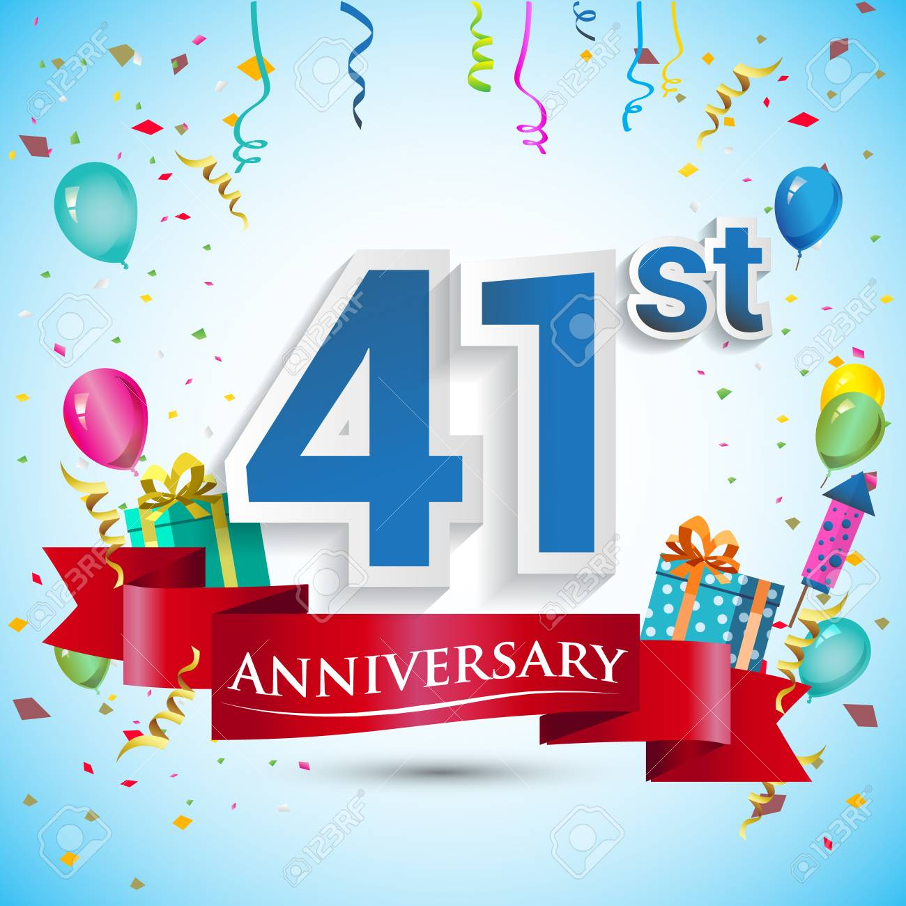 Anniversario Matrimonio 41 Anni.Vettoriale 41 Anniversario Di Celebrazione Di Anniversario
