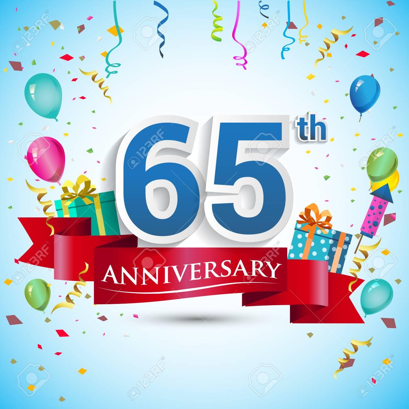 68ba1831d Diseño De Celebración De Aniversario De 65 Años