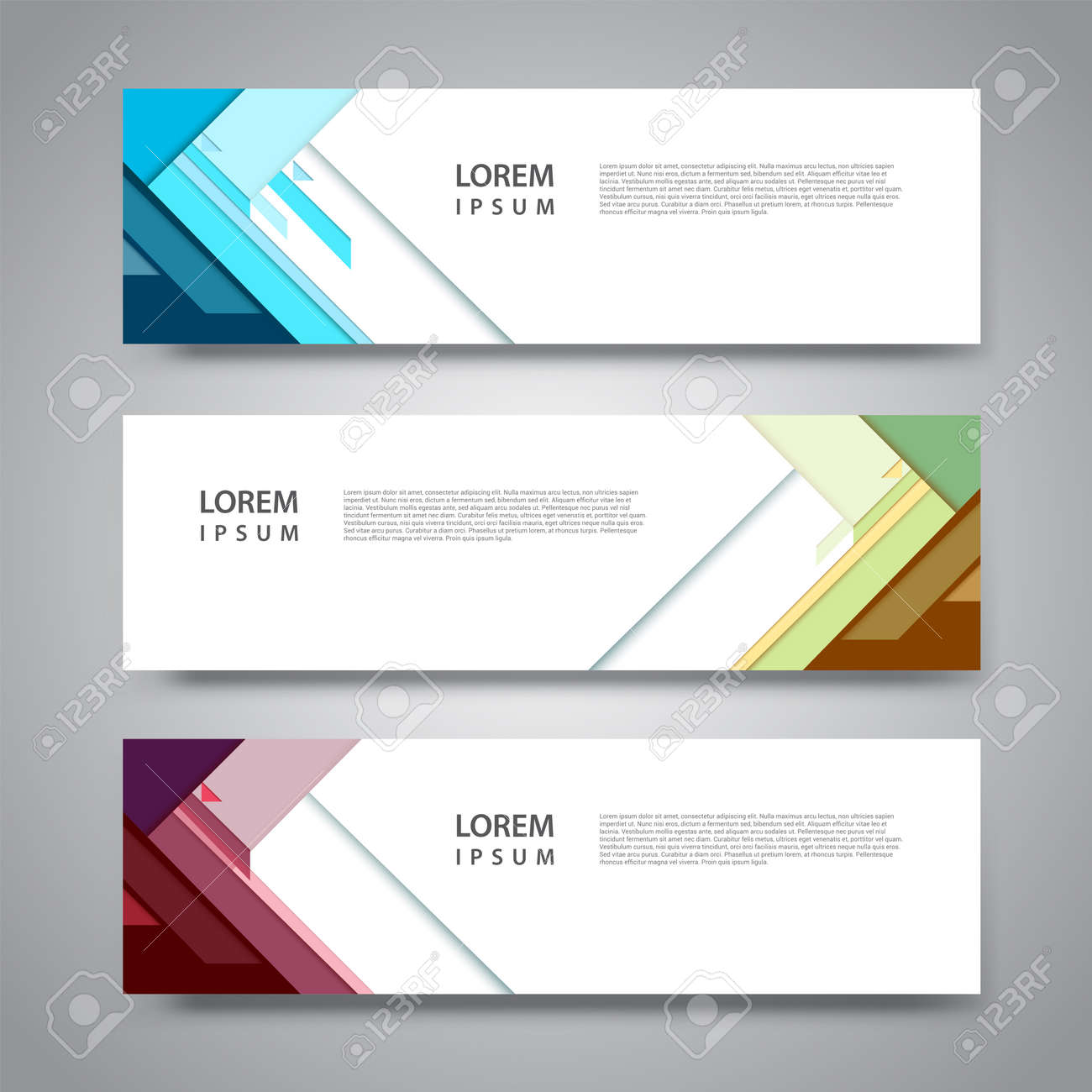 Vector set abstract geometric design banner web template. - 148328466