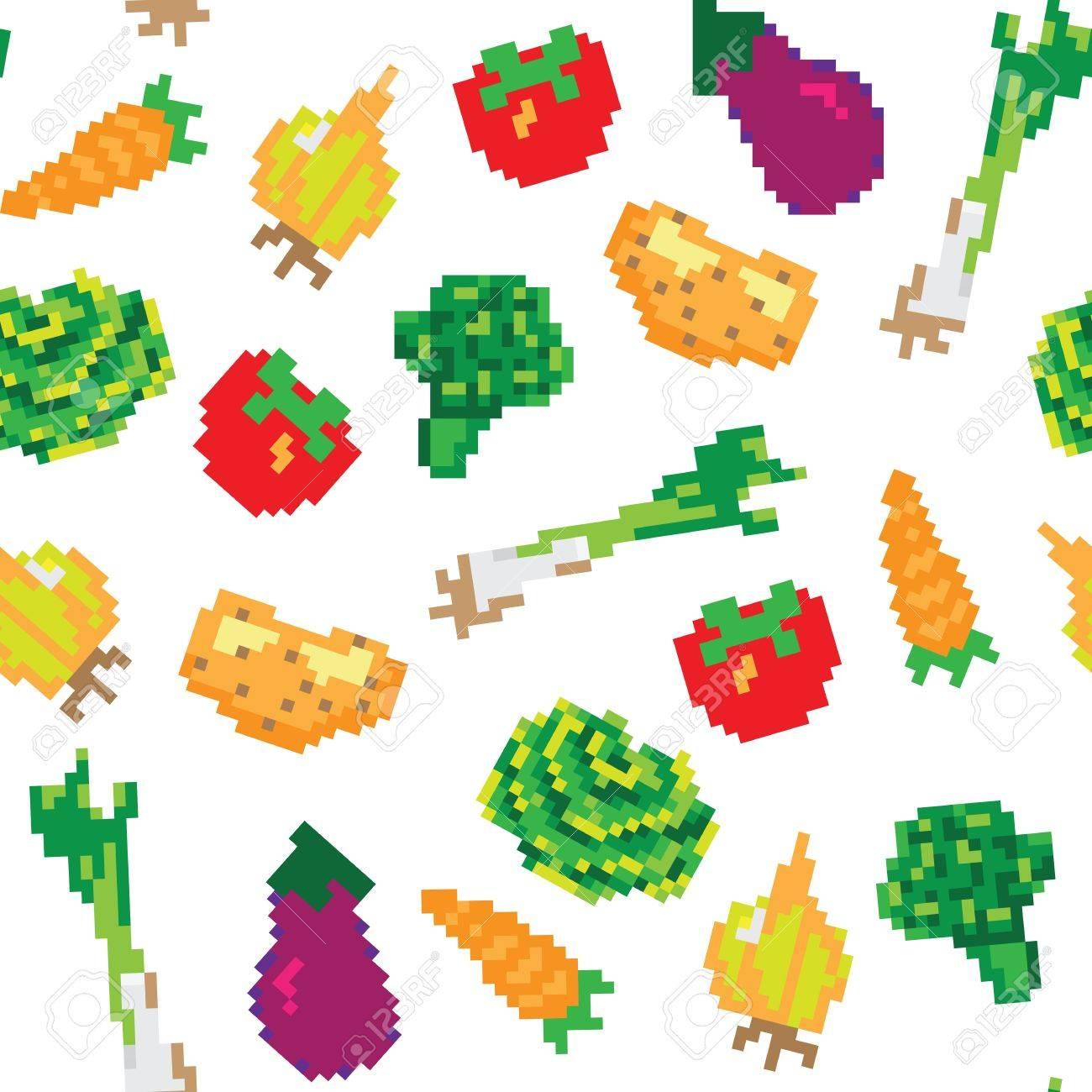 vegetables seamless pattern Stock Vector - 13551273