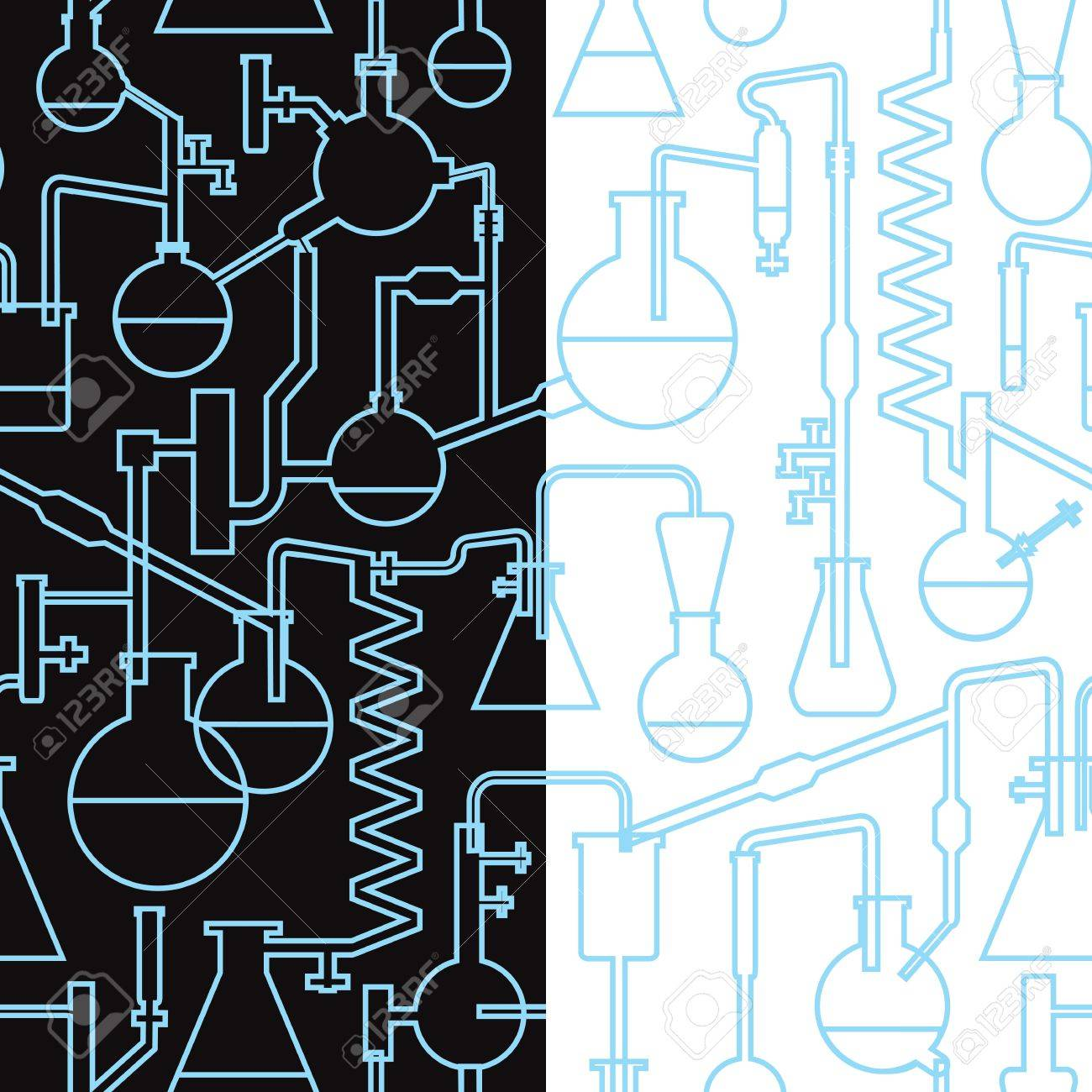 science lab seamless pattern x2 Stock Vector - 13551240