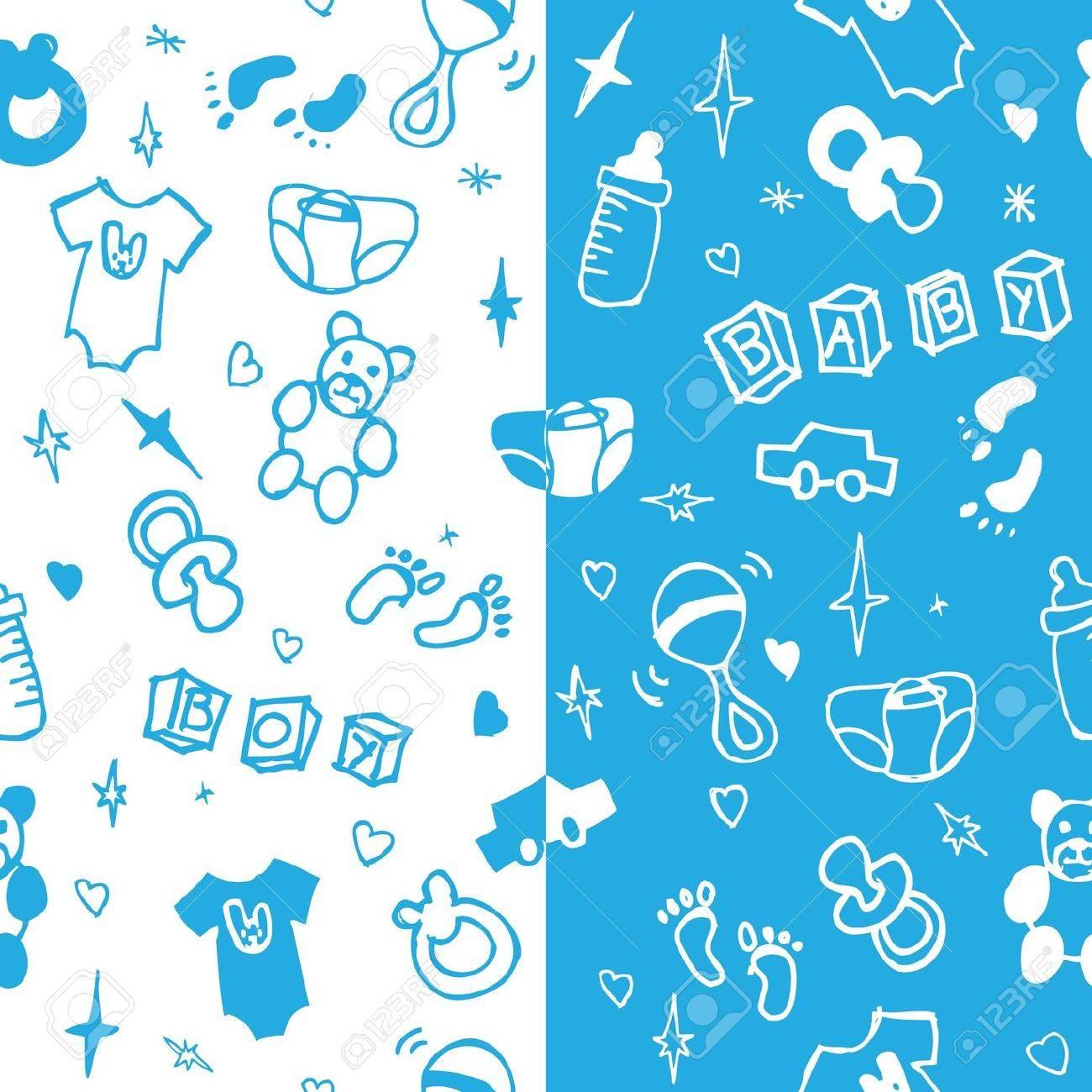 Baby boy seamless pattern Stock Vector - 13551271
