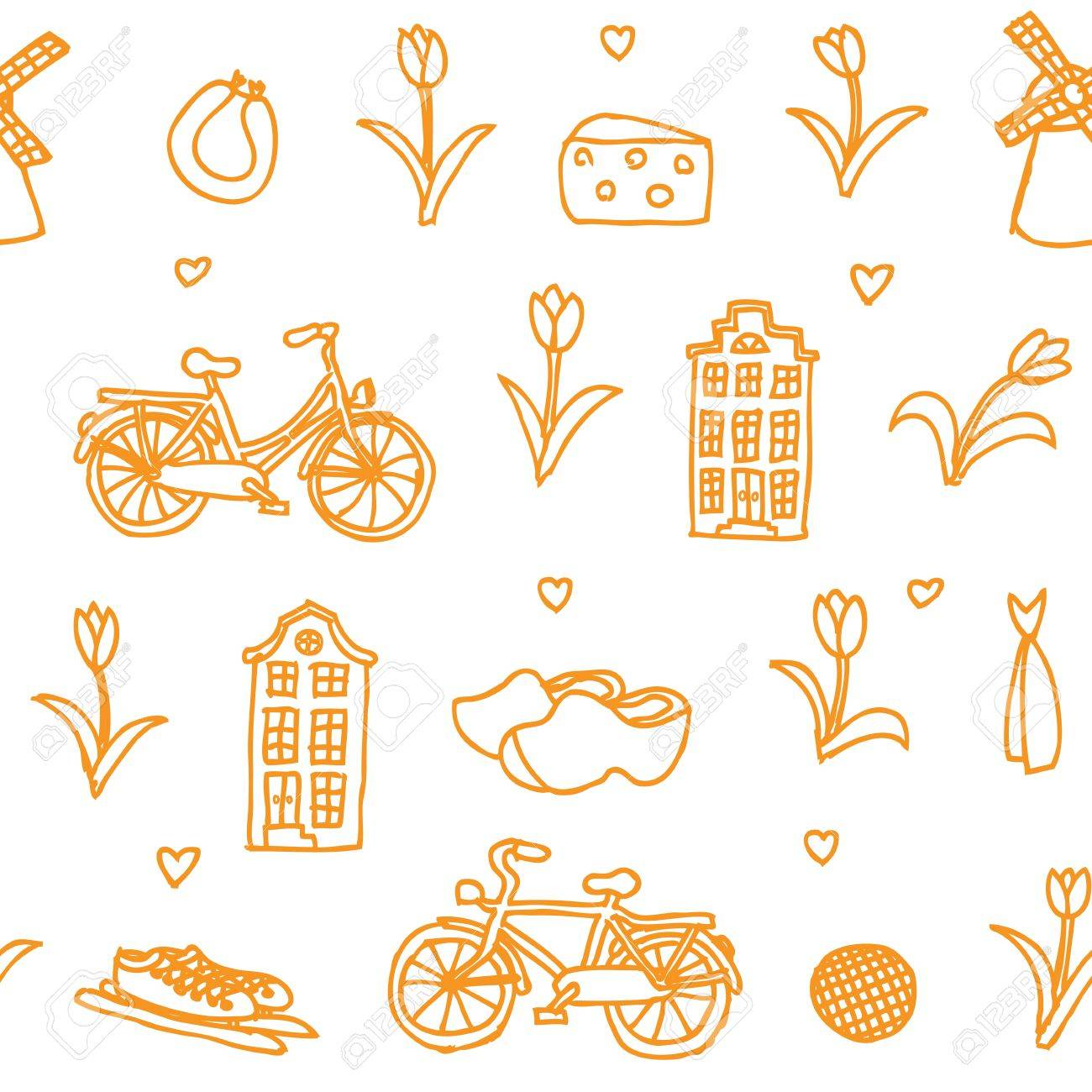 Holland Orange Pattern Royalty Free Cliparts, Vectors, And Stock ...