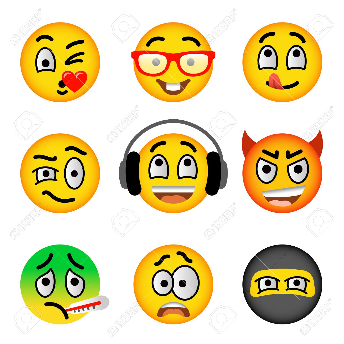 Smiley face flat vector icons set emoji emoticons facial smiley face flat vector icons set emoji emoticons facial emotions and expression symbols buycottarizona Choice Image
