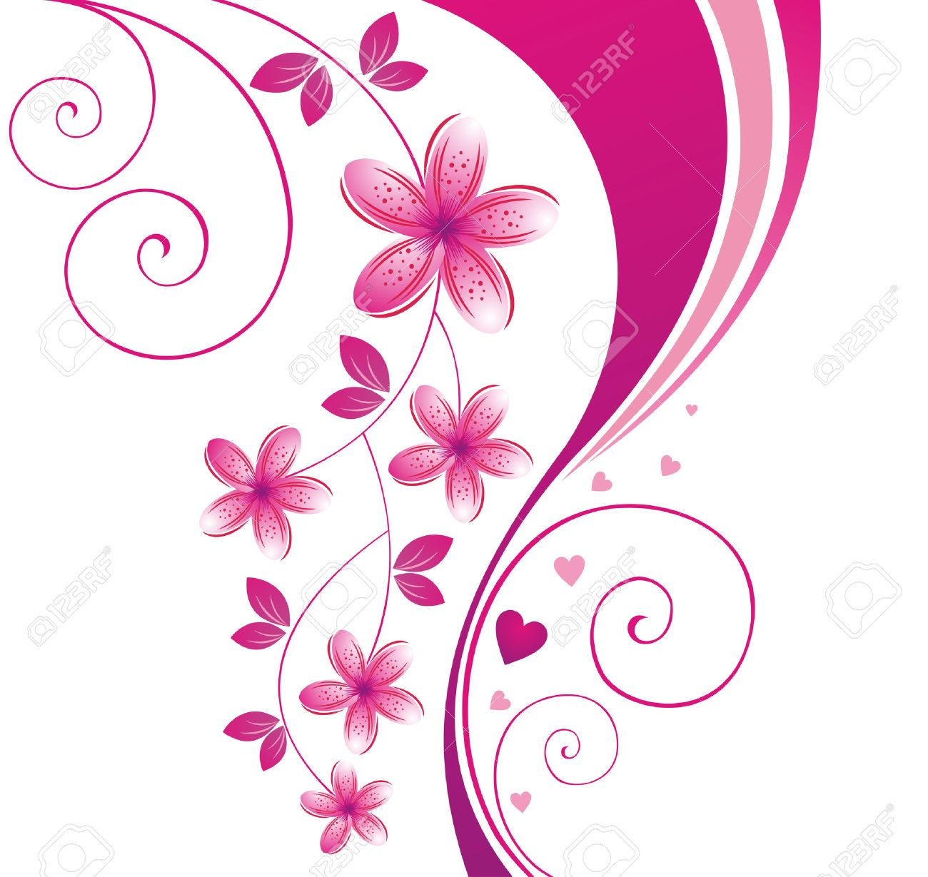 pink flower. floral background. royalty free cliparts, vectors