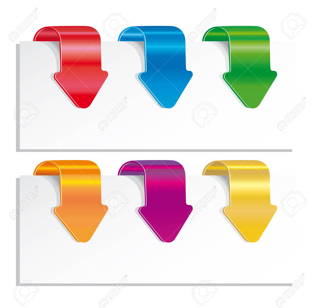 Set of colorful arrows. Stock Vector - 8082267