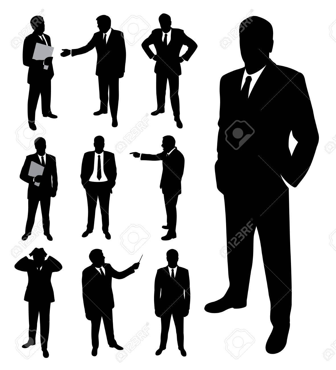 businessman silhouette royalty free cliparts vectors and stock