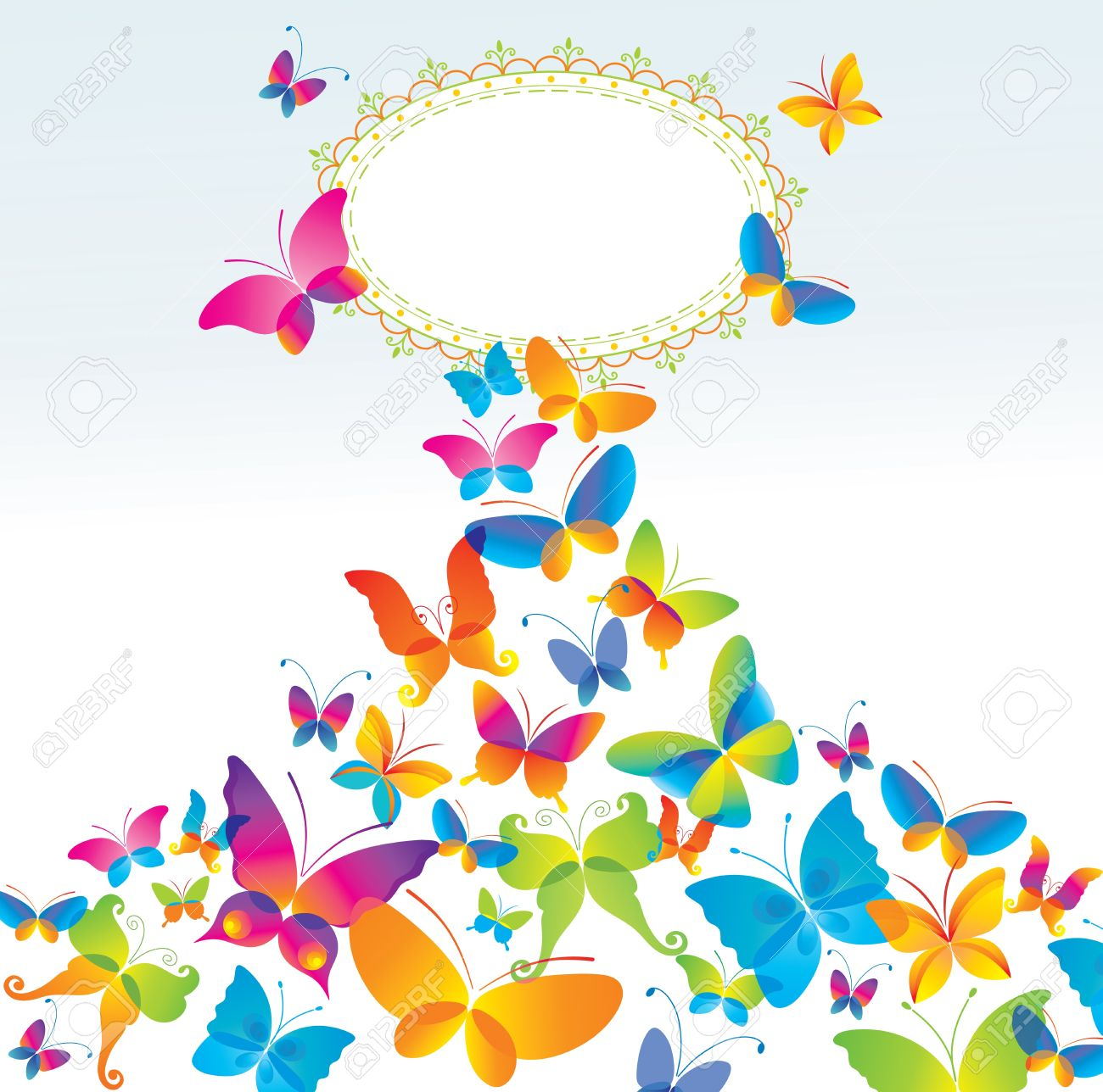 colorful background with butterfly royalty free cliparts vectors