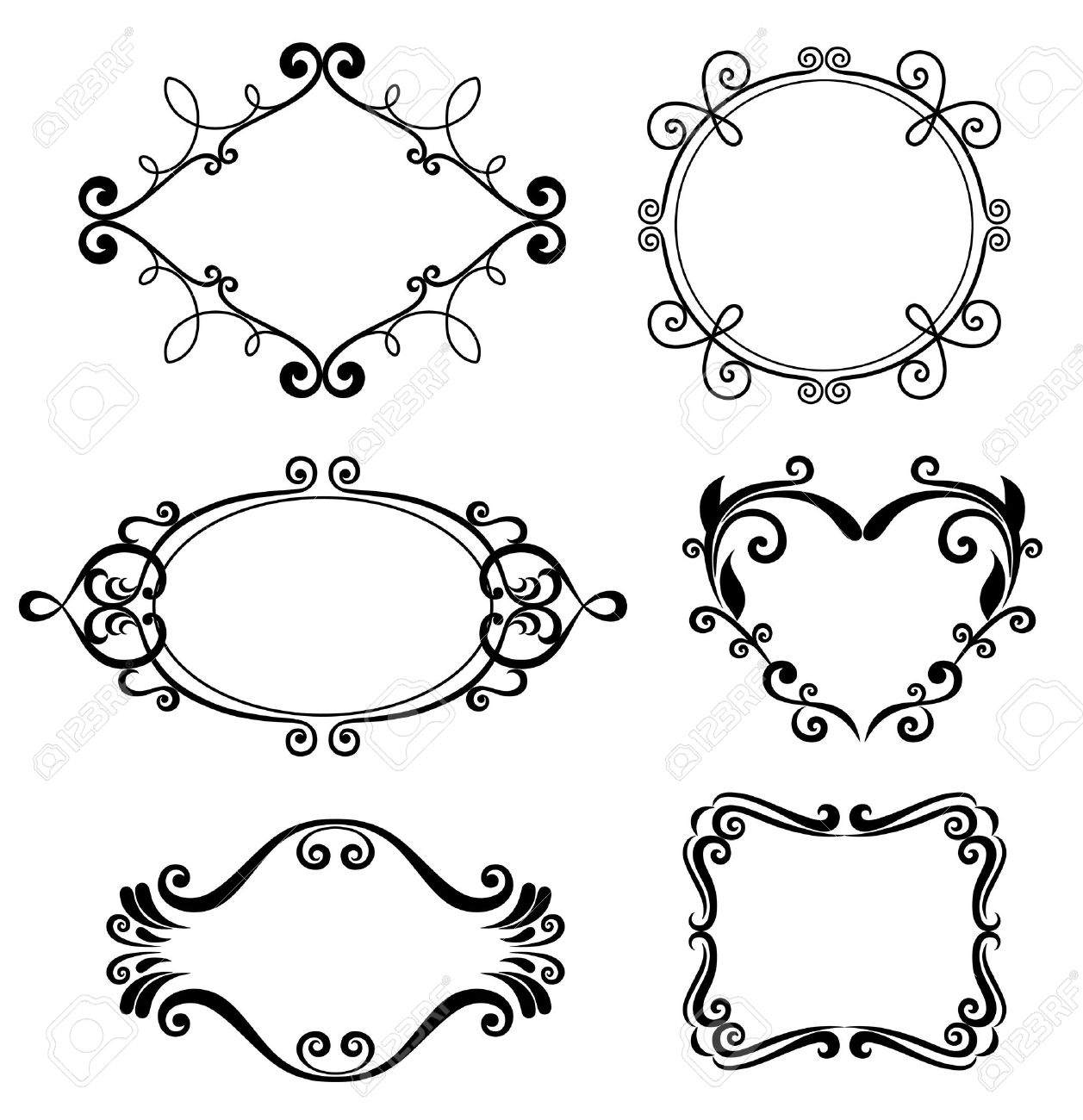 Set Of Vintage Frames. Royalty Free Cliparts, Vectors, And Stock ...