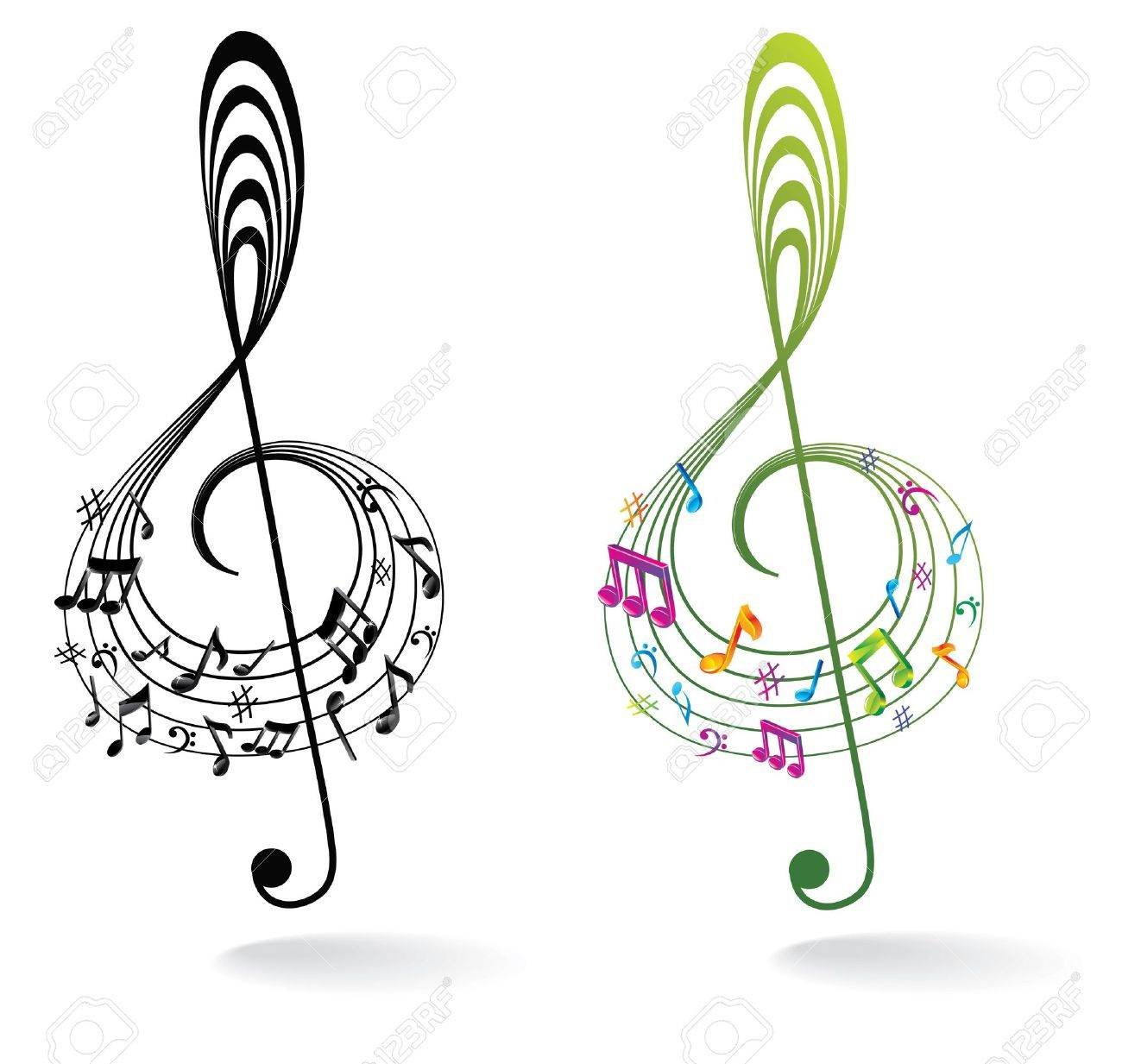 Background with Music Note. Stock Vector - 16579452