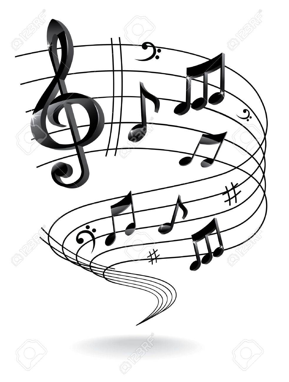background with music note royalty free cliparts vectors and