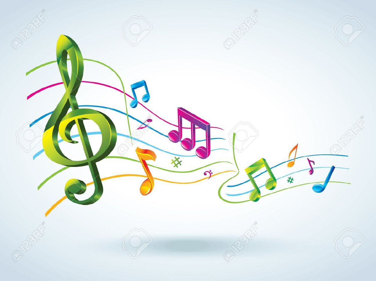 Abstract Music Background. Royalty Free Cliparts, Vectors, And ...