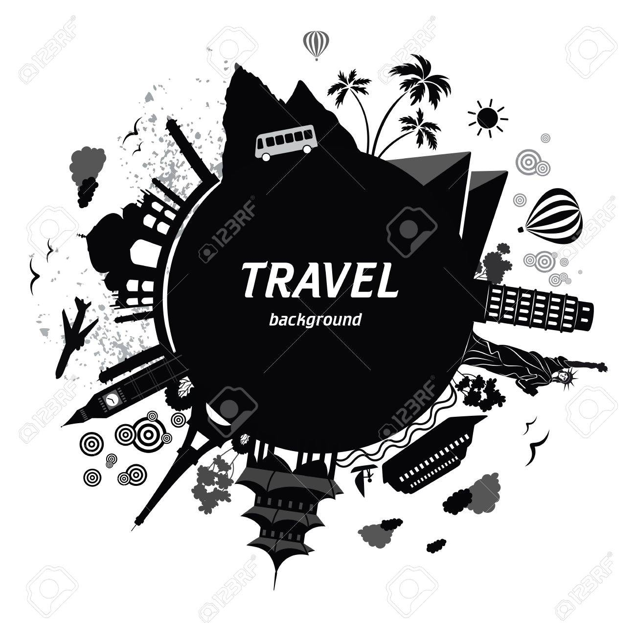 Travel background. Stock Vector - 19574514