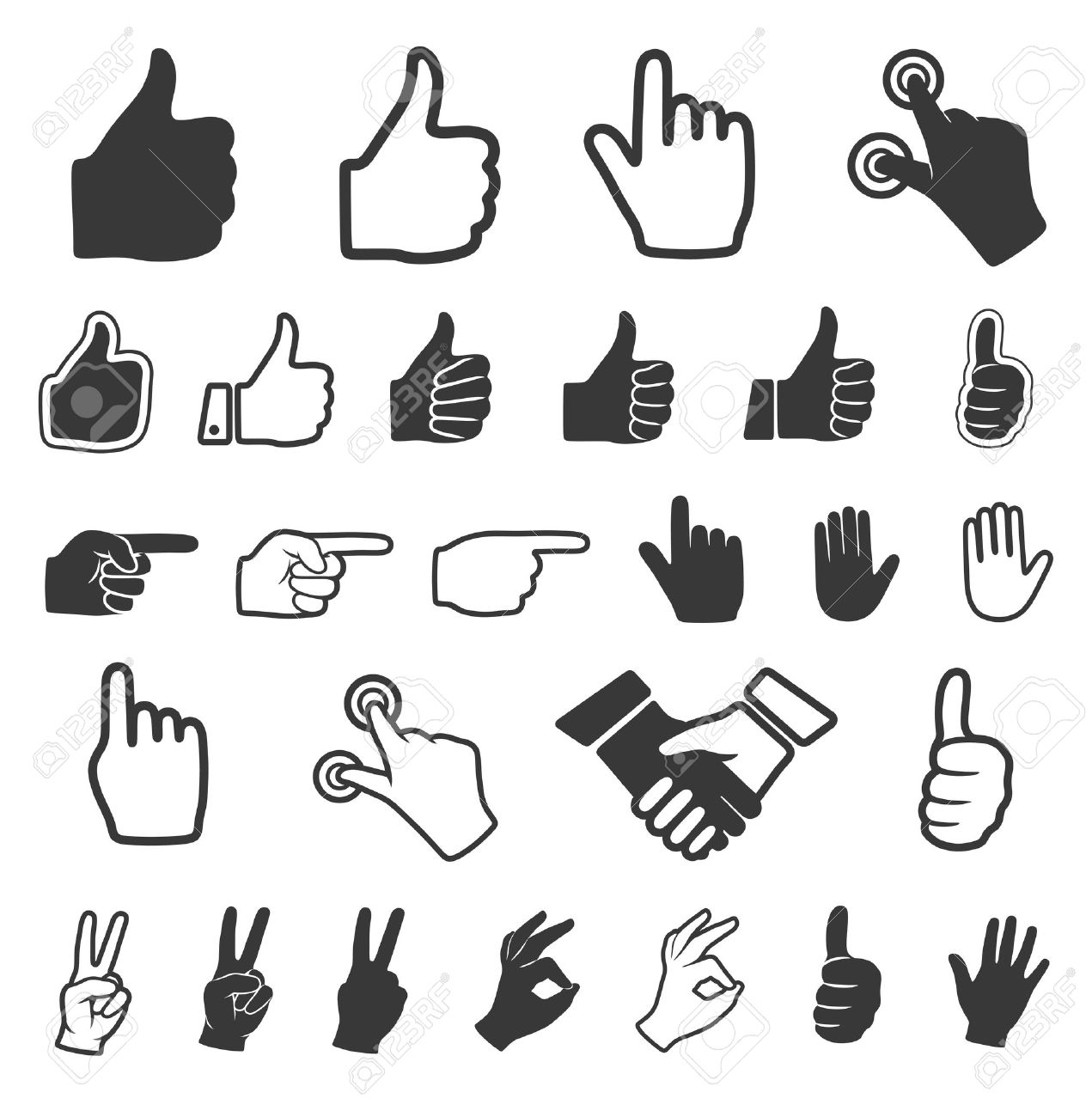 hand icon vector set royalty free cliparts vectors and stock rh 123rf com hand icon vector png hand icon vector eps
