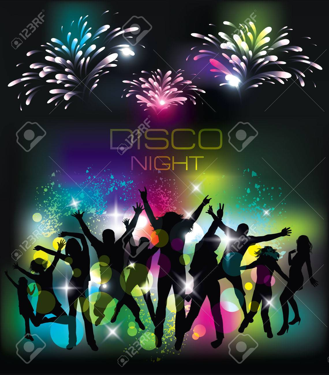 Young people on the party  Celebration background Stock Vector - 25468930