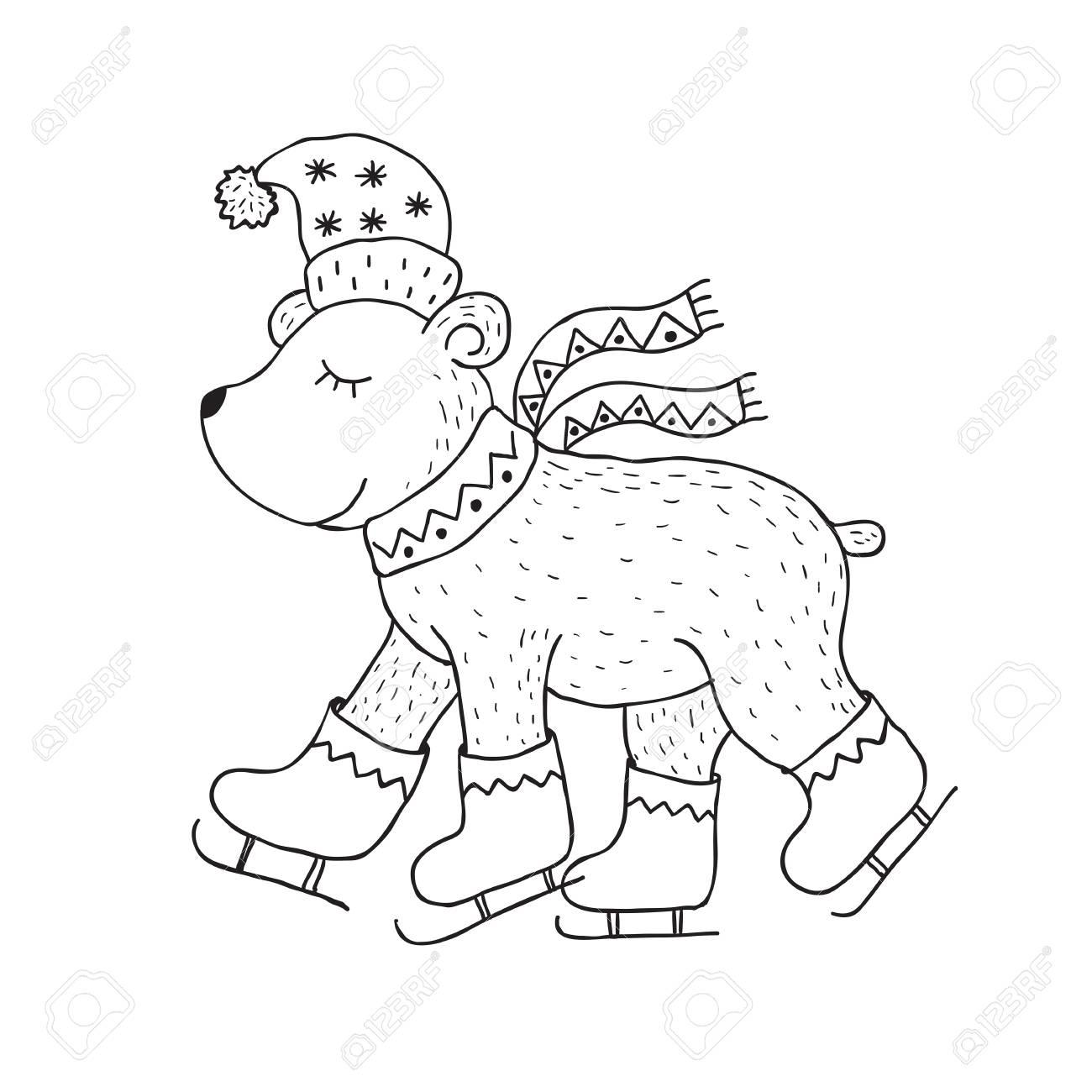 a1d17ac7 Funny polar bear. Nursery art. Minimalist scandinavian style...