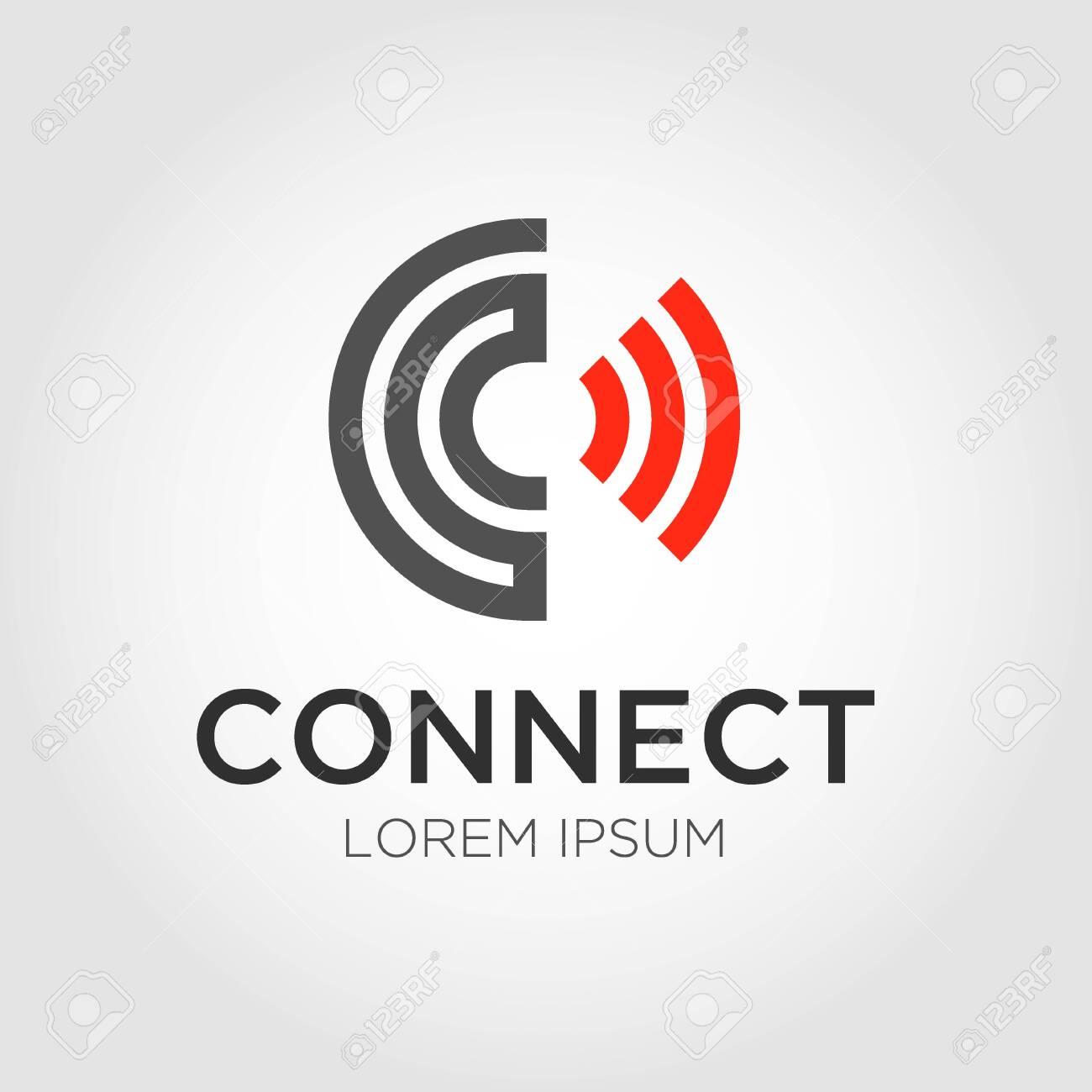 Initial letter logo C, Connect logo design - 126488675