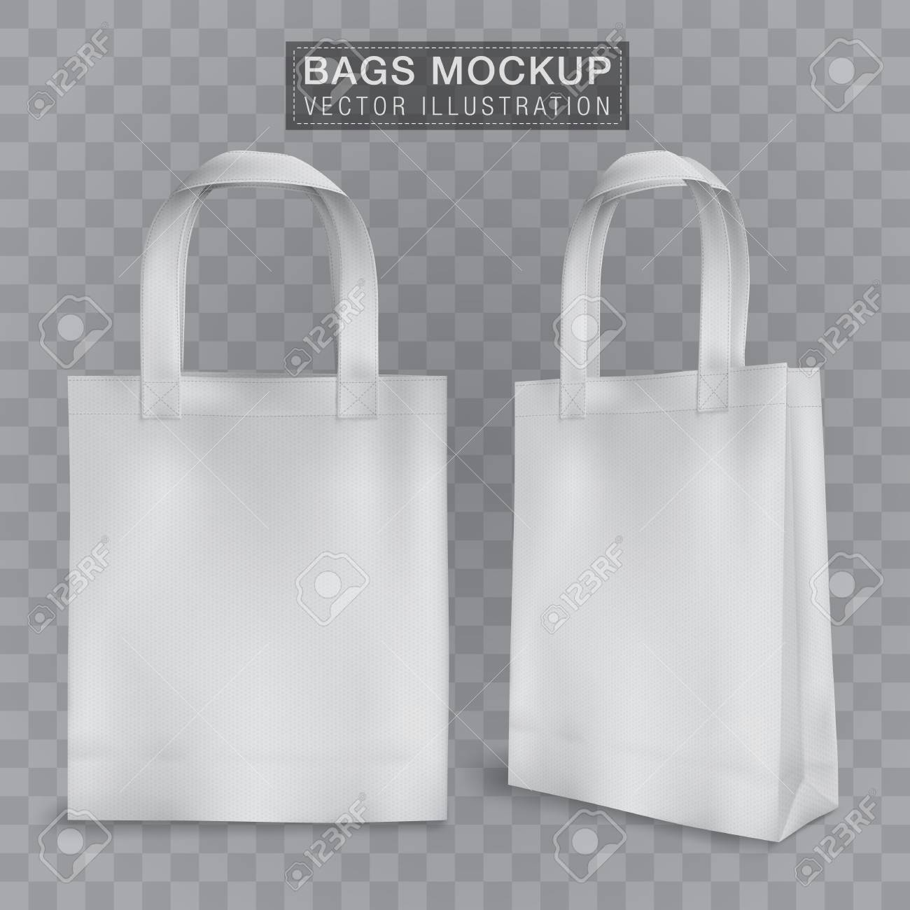 realistic tote shopping bag mock up template for corporate identity