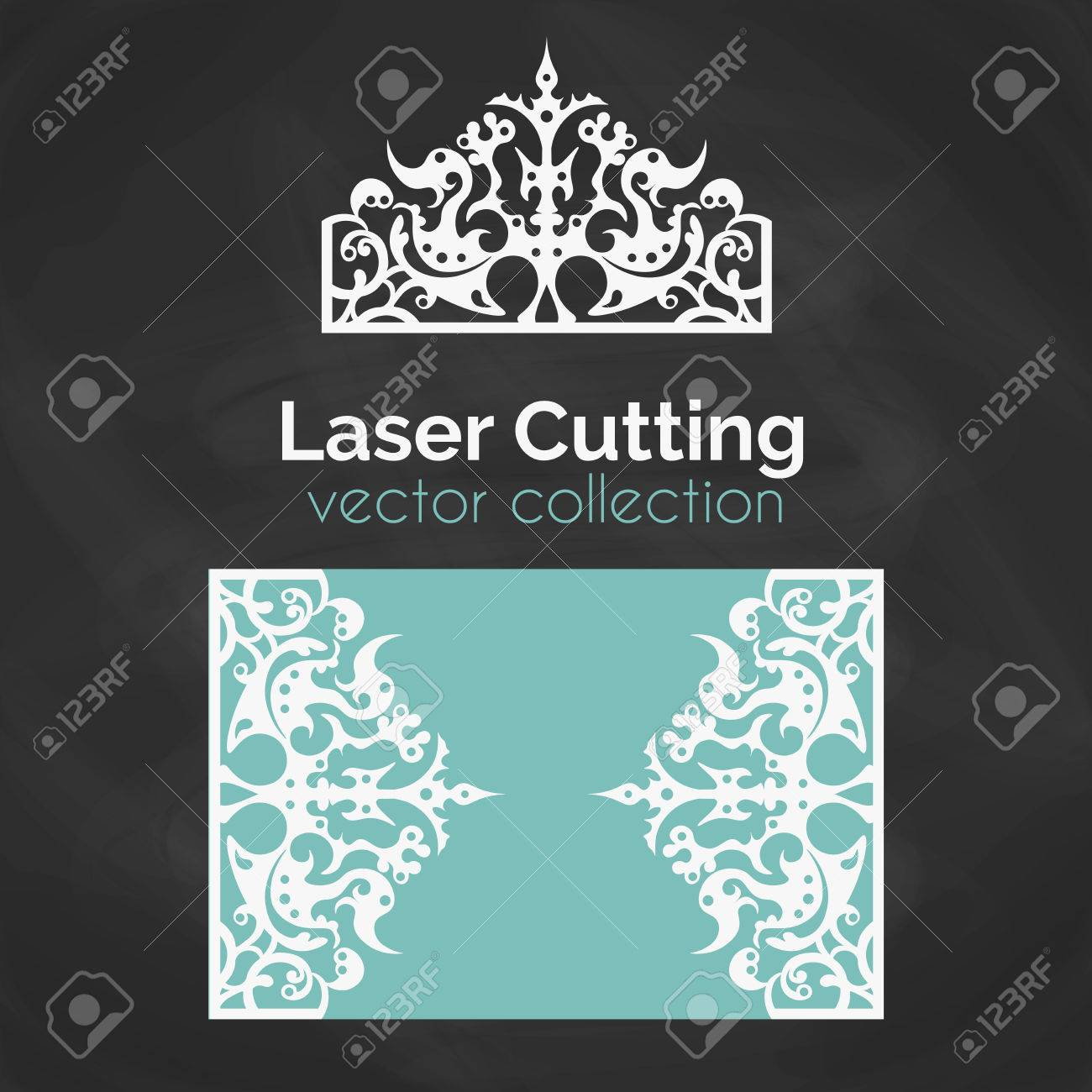 Laser Cut Card. Template For Laser Cutting. Cutout Illustration ...