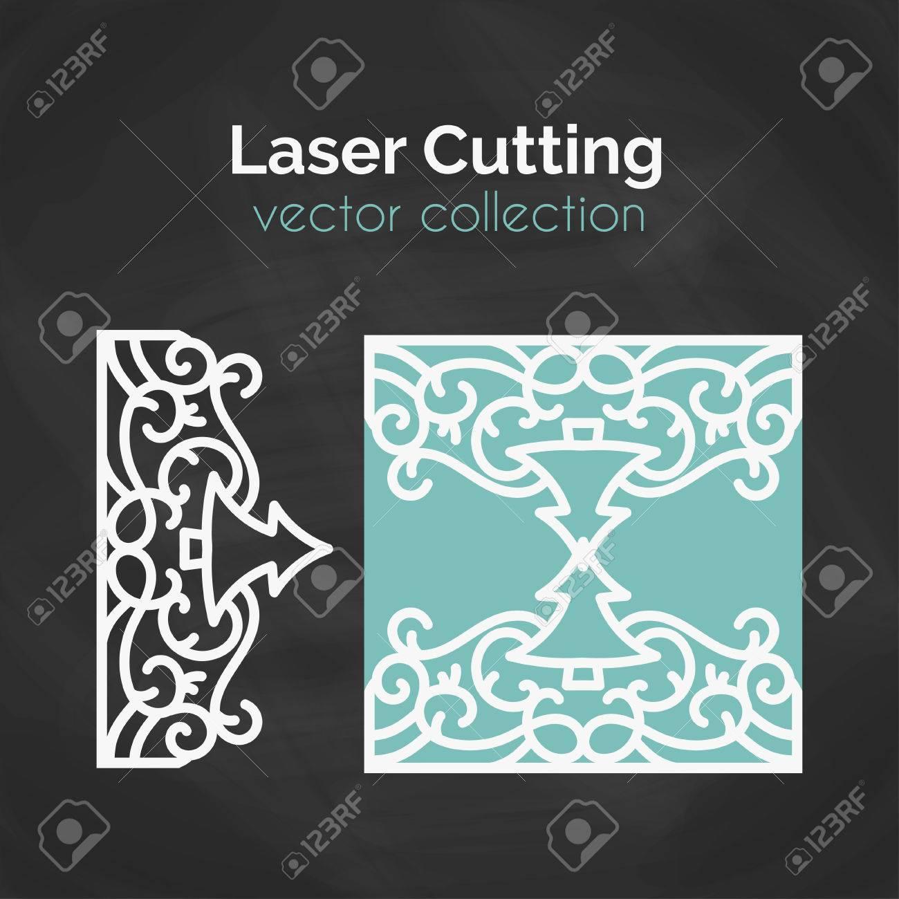 Laser-Schnitt-Karte. Vorlage Für Das Laserschneiden. Ausschnitt ...
