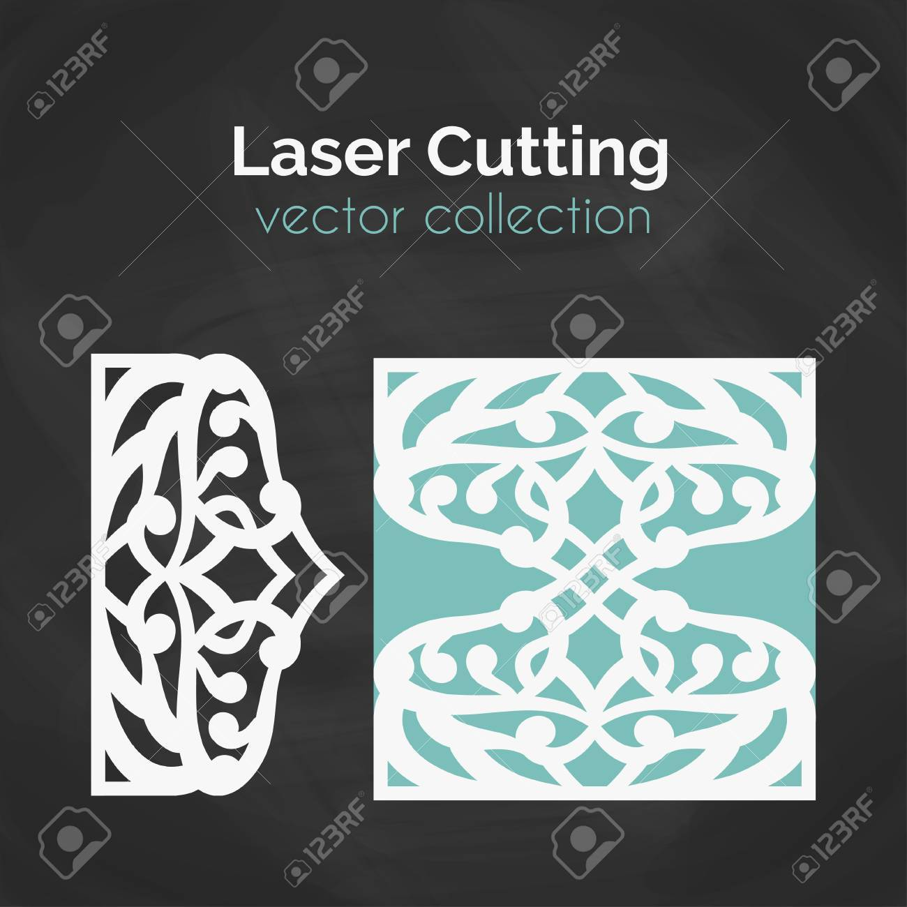 Laser Cut Card Template For Laser Cutting Cutout Illustration