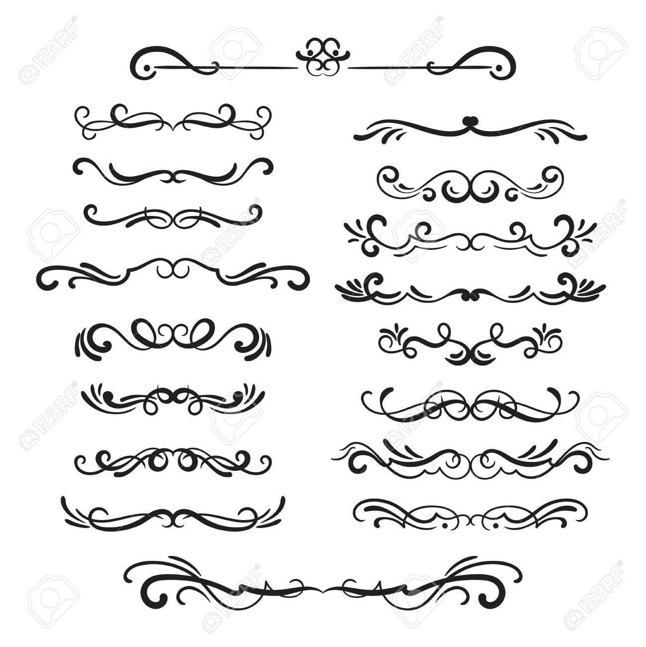 flourishes vintage ornamental borders and dividers filigree rh 123rf com vector flourishes and ornaments vector flourishes and ornaments