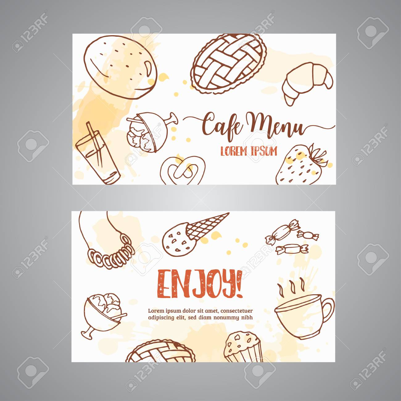 bakery business card template with pastries sweet pastry cupcakes