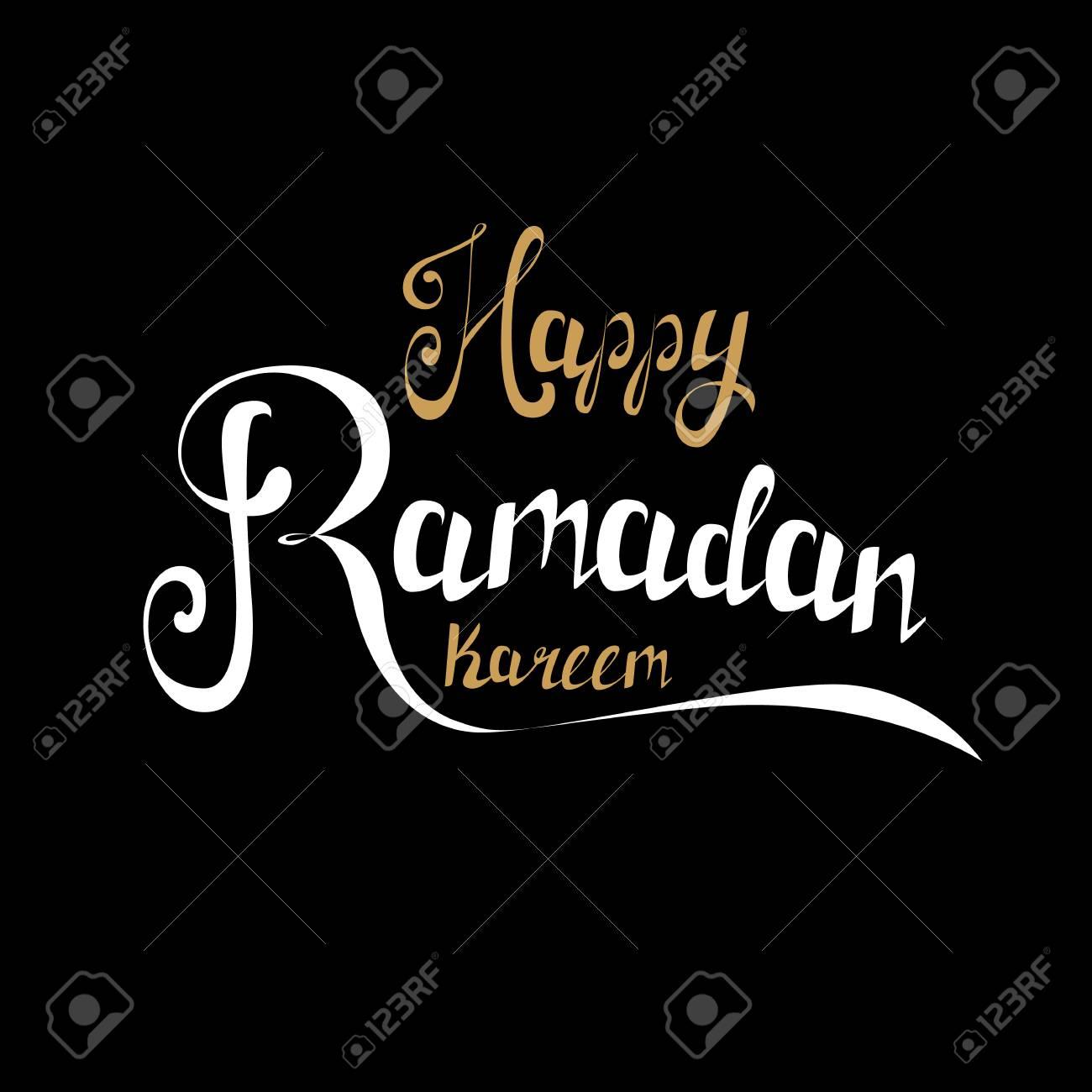 Happy Ramadan Kareem Greeting Card Handmade Golden And White