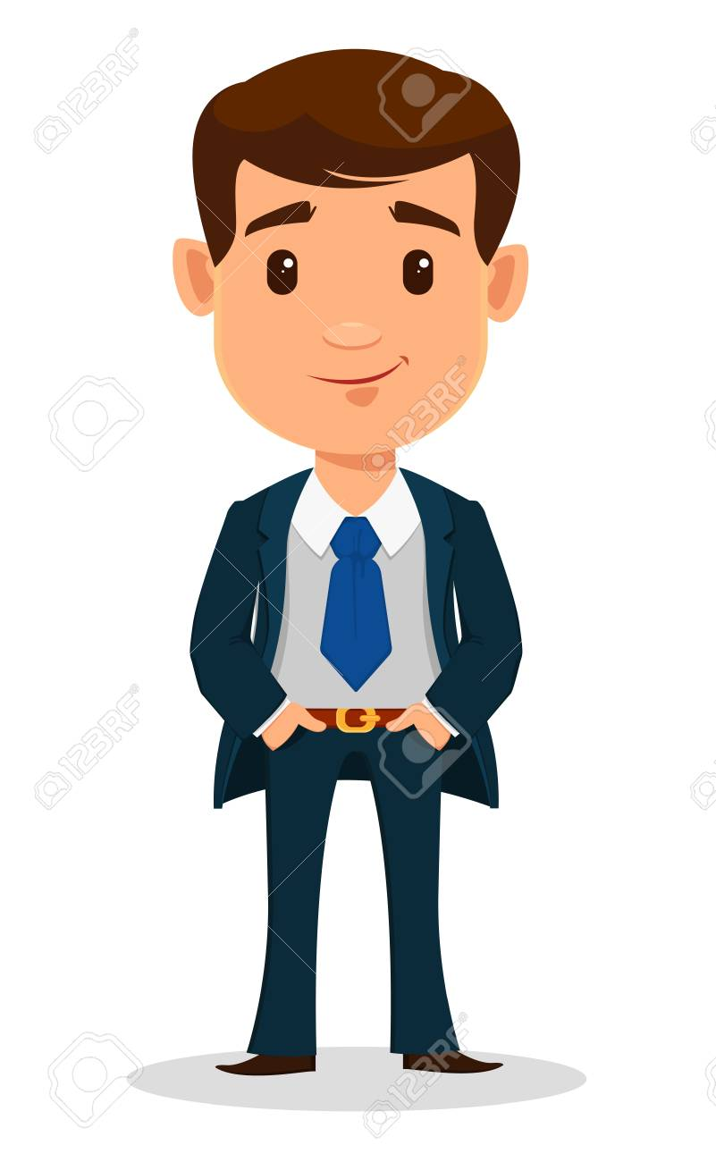 Business Man Cartoon Character In Smart Clothes Office Style Royalty Free Cliparts Vectors And Stock Illustration Image 85709526 Choose from 1200+ cartoon man graphic resources and download in the form of png, eps, ai or psd. business man cartoon character in smart clothes office style