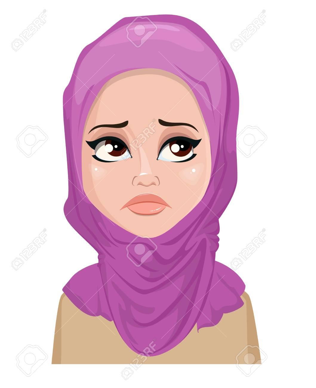 Rosto Expressao De Mulher Arabe Chorando Emocoes Femininas