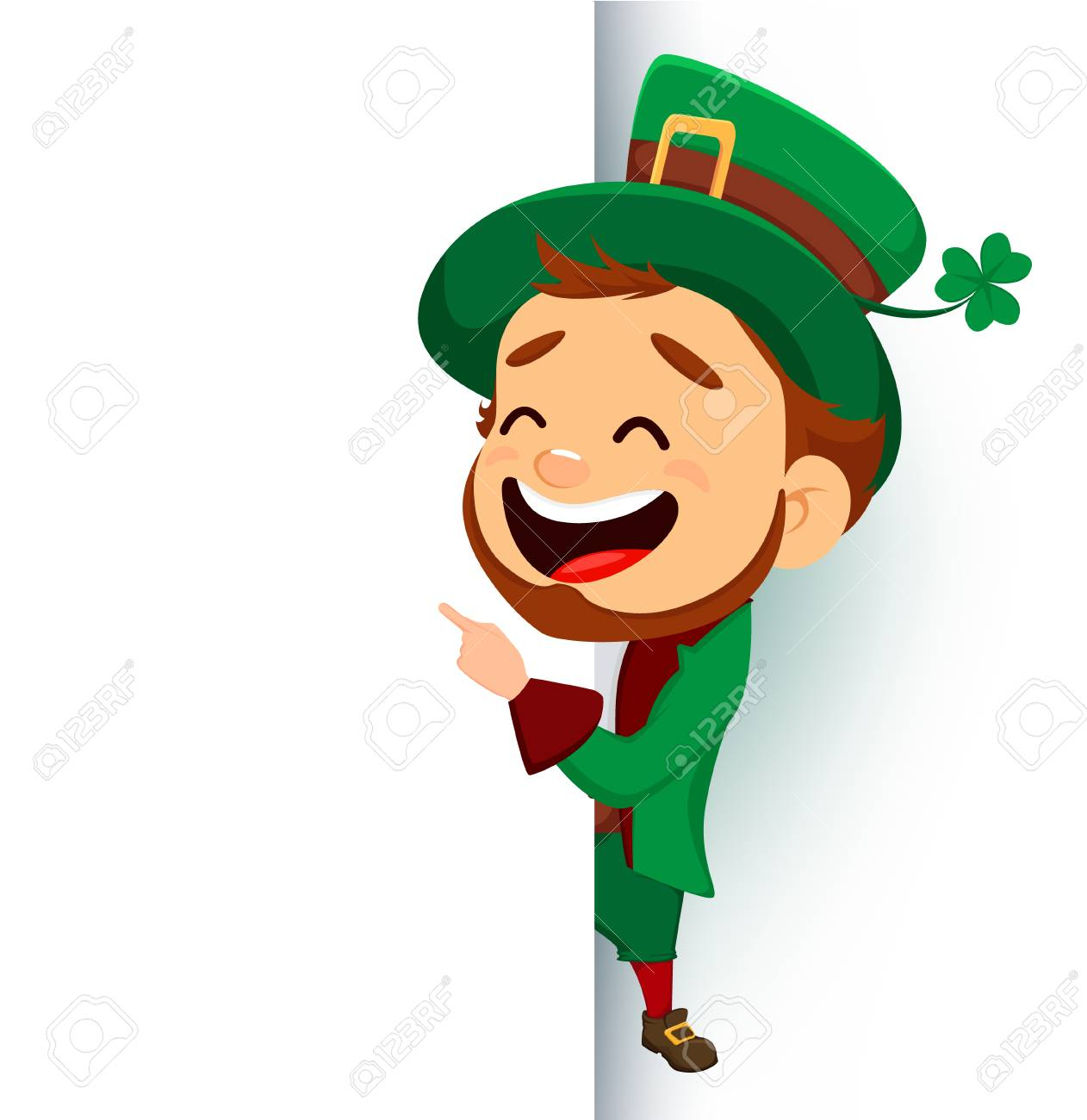 saint patrick s day design with funny leprechaun vector illustration rh 123rf com leprechaun vector logo leprechaun vector png