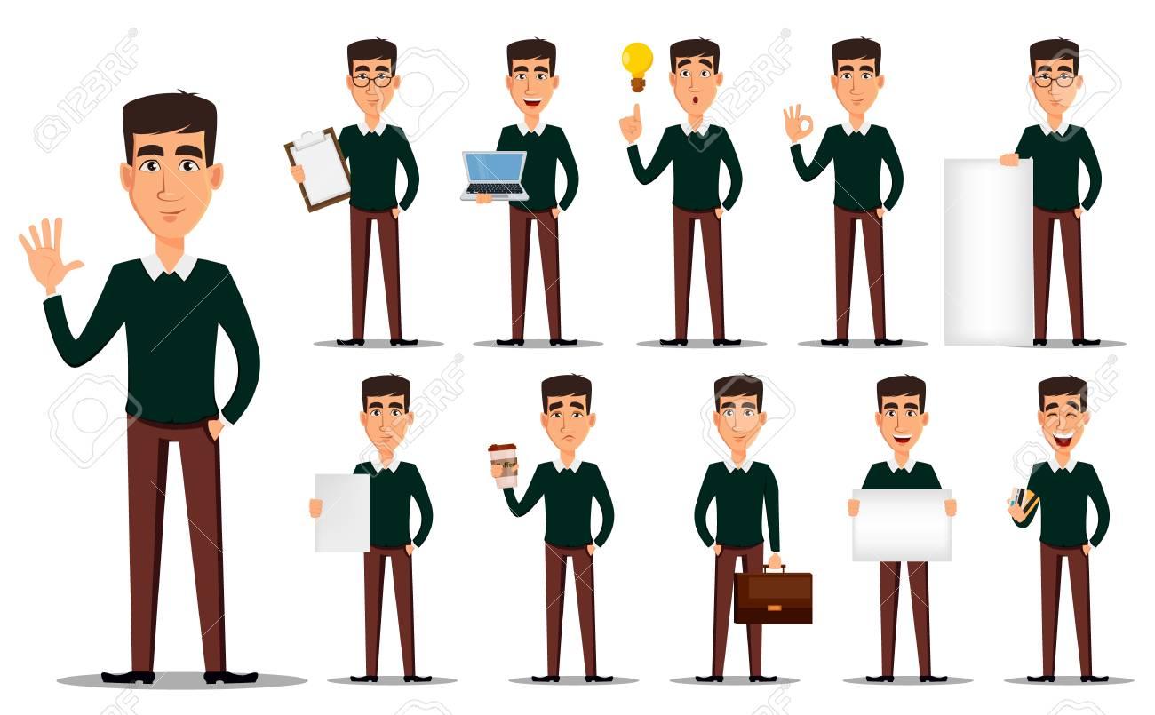 26ddbdd5444 Business Man Cartoon Character