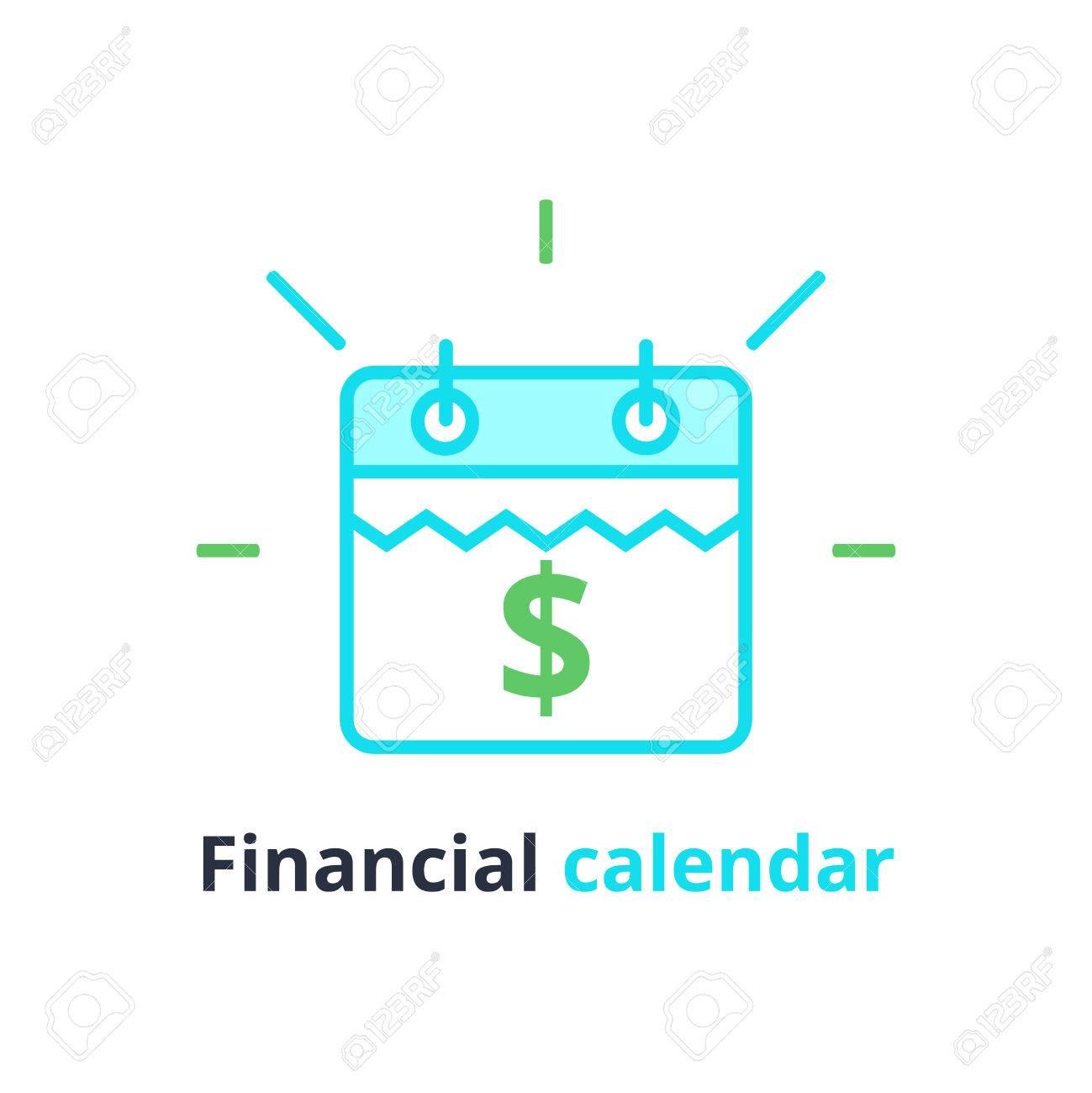Calendrier Budgetaire.Calendrier Financier Jour De Paiement Annuel Planification Budgetaire Mensuelle Concept De Periode Fixe Duree Du Pret Icones Vectorielles De