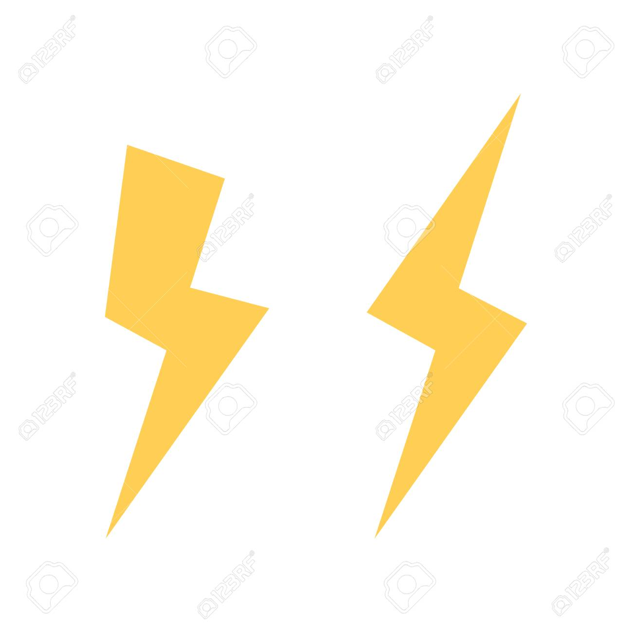 Lightning Bolt Vector Icon Flash Of Streak Light