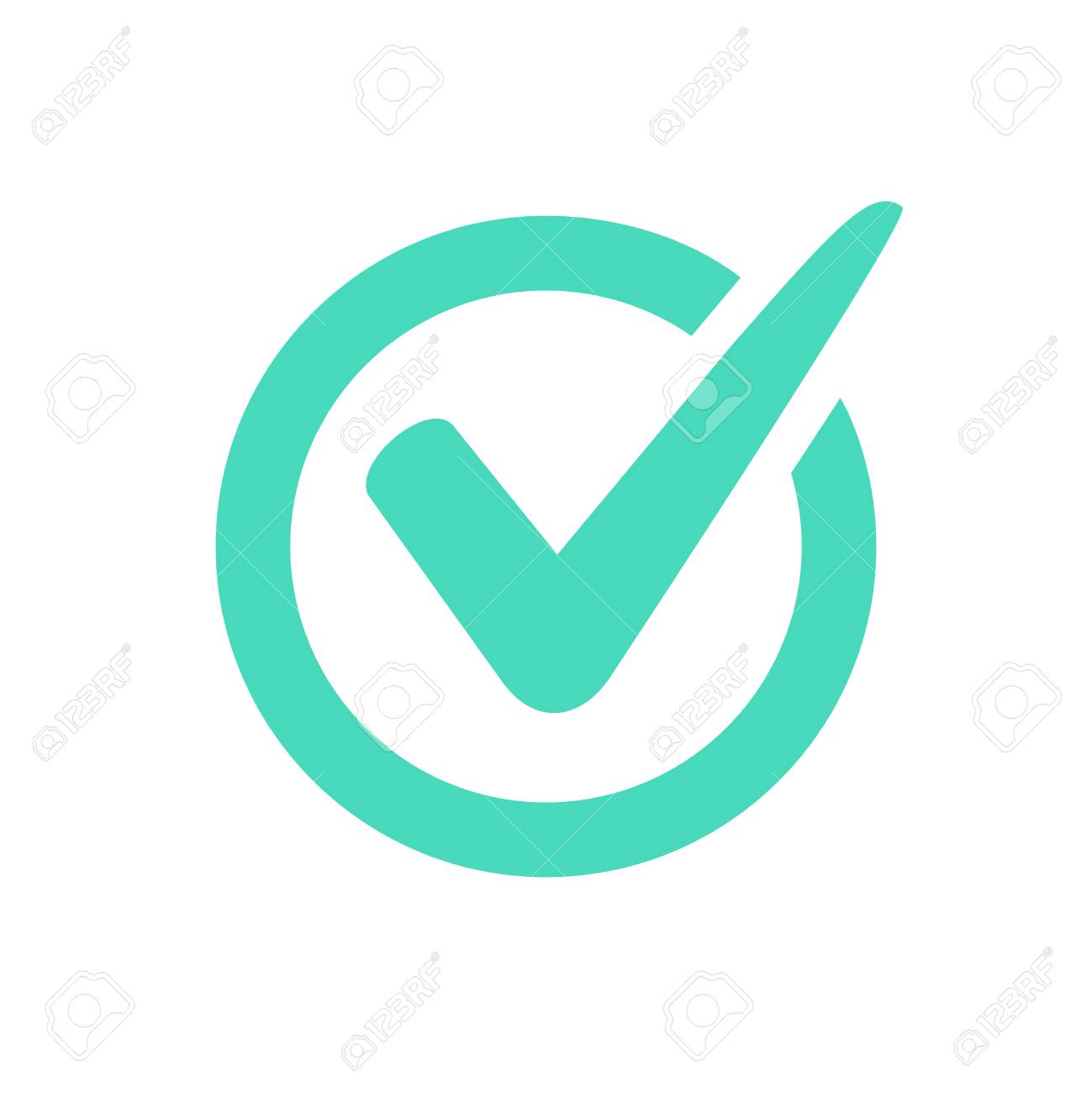 check mark logo vector or icon tick symbol in green color rh 123rf com checkmark logo with yellow circle check mark logo answer