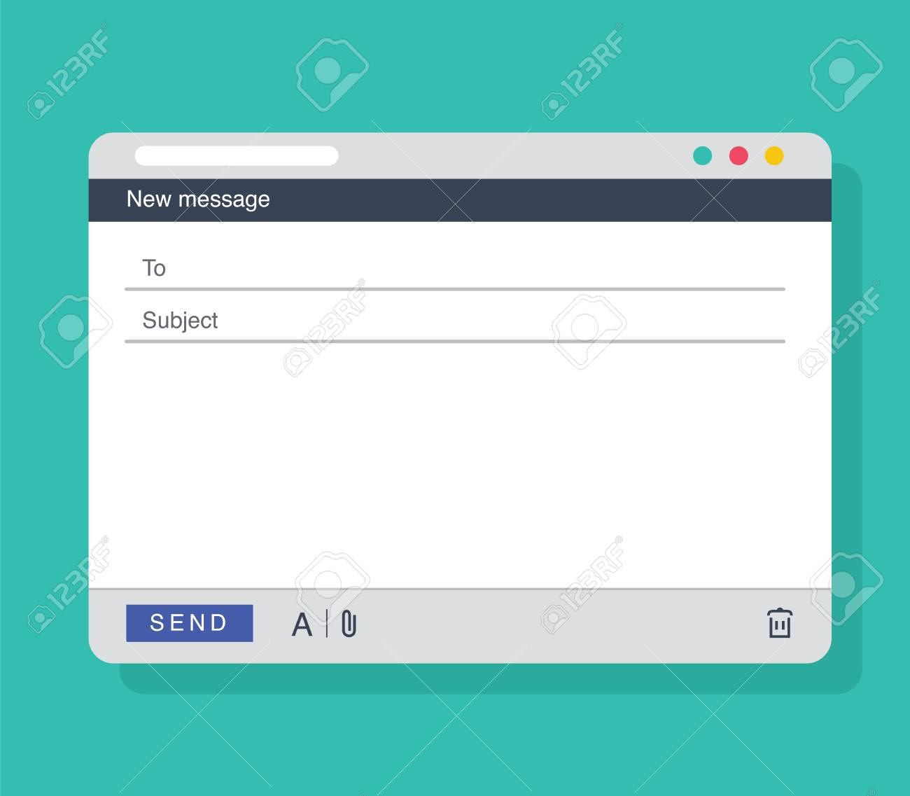 Email Message Blank Window Template E Mail Blank Template Internet