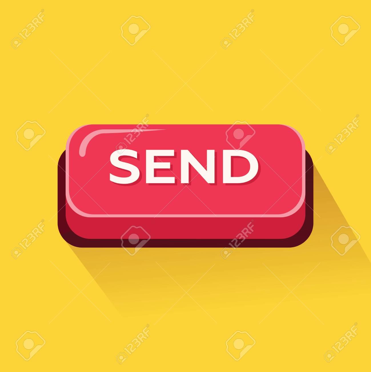 Send button. Vector Illustration - 132207293