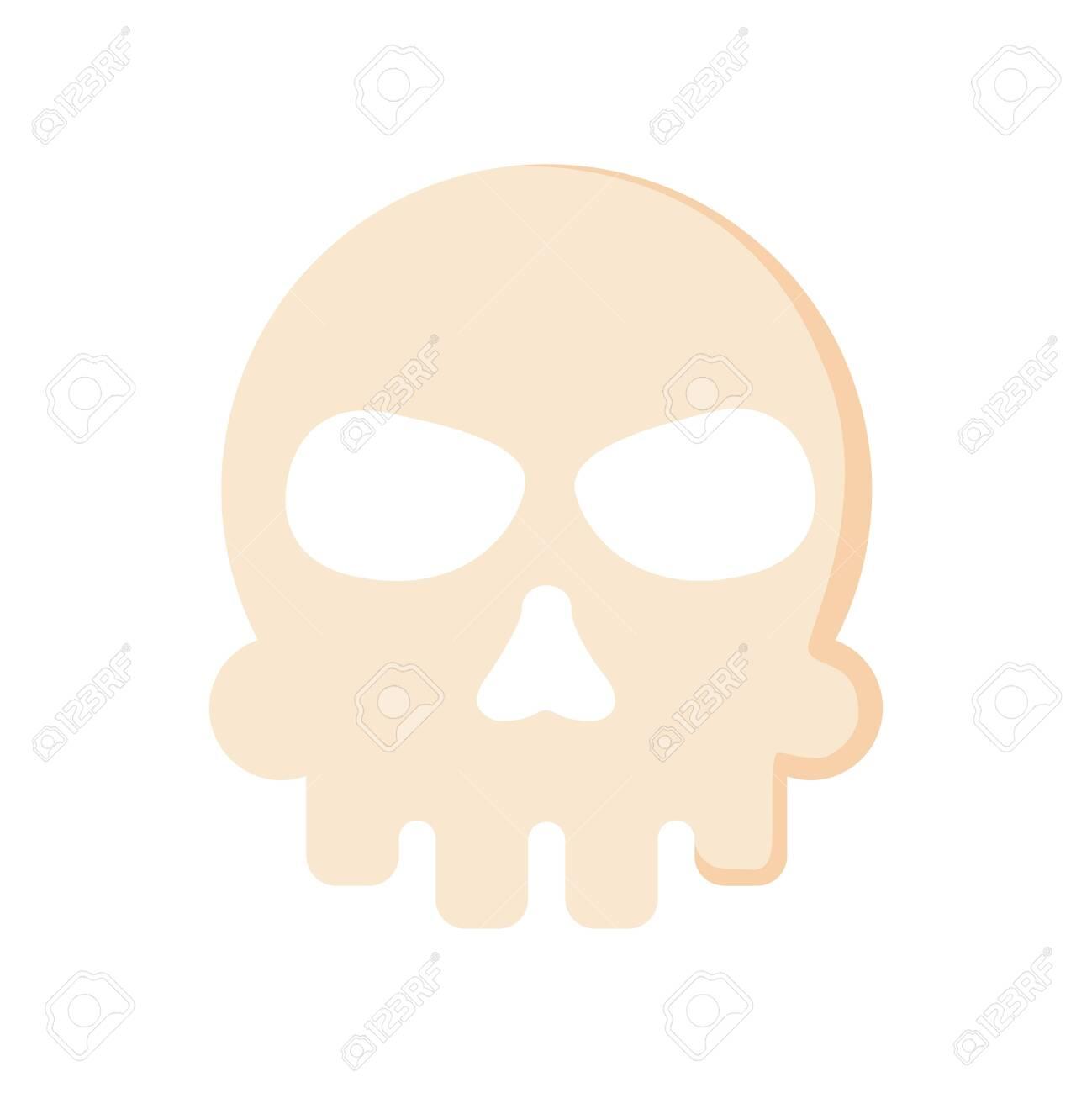 Extreme skull isolated icon. - 132207298