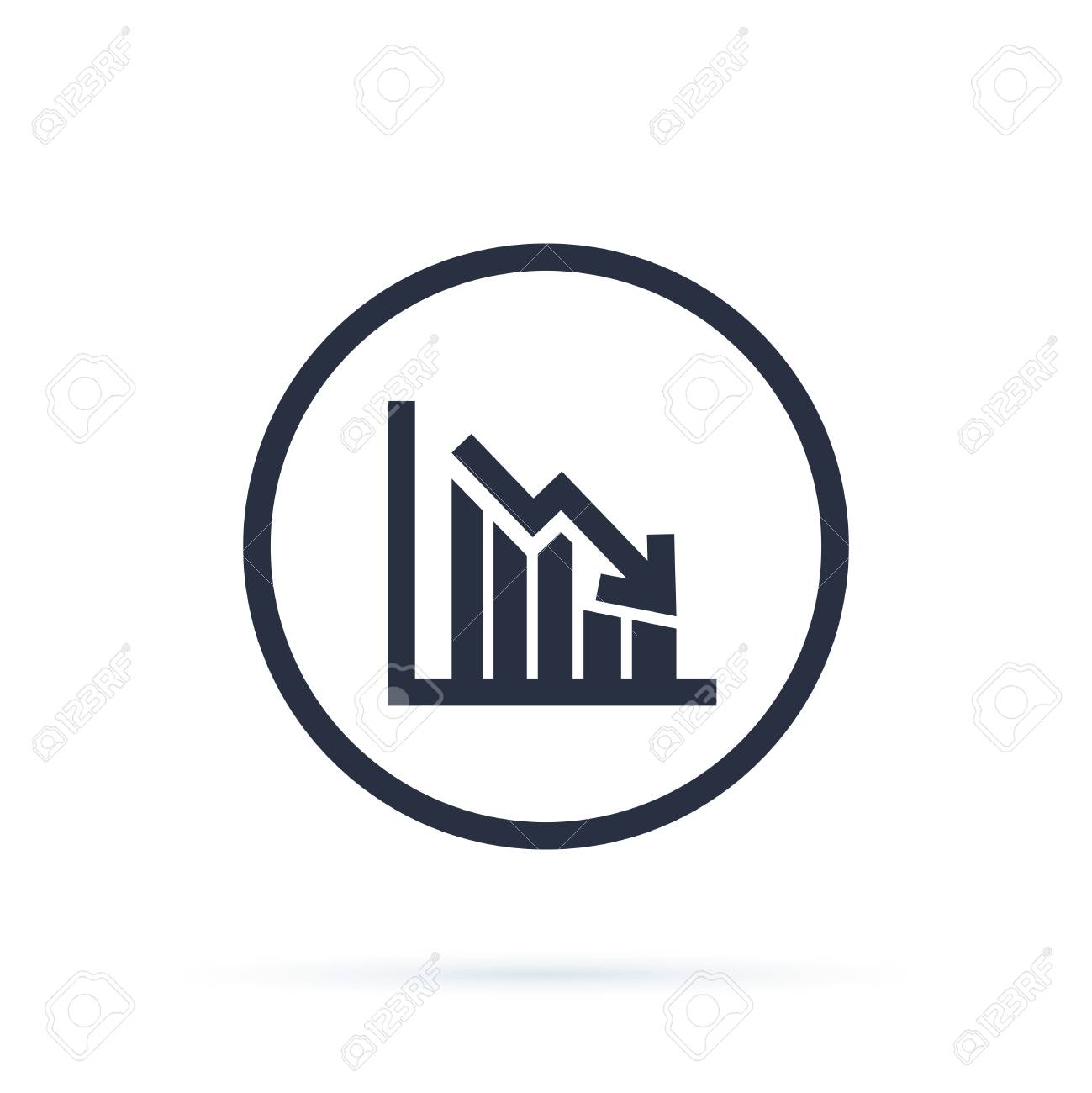 Chart icon in trendy flat style isolated on background. Grow chart sign page symbol for your web site design - 126506099