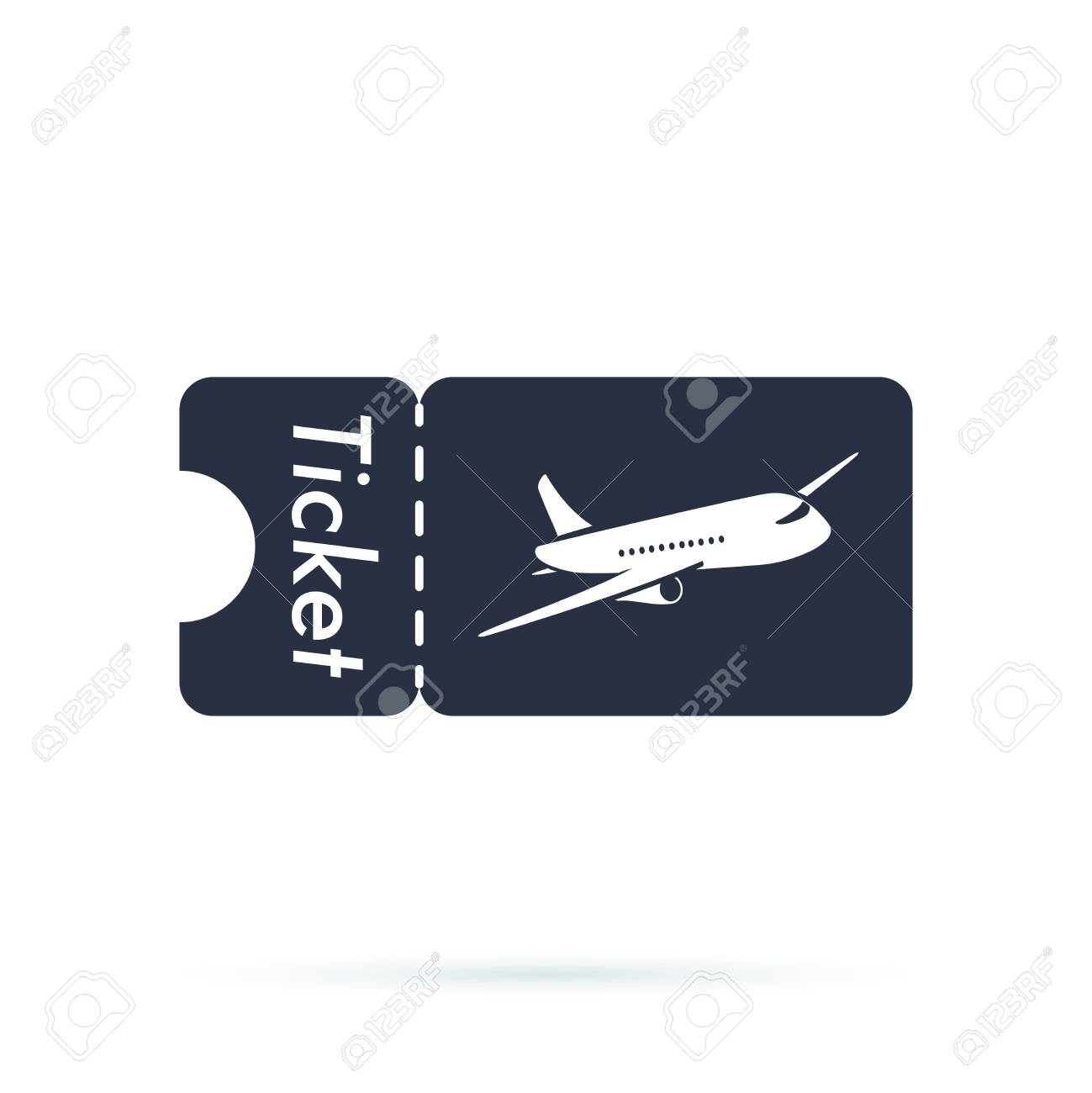 Tickets icon. Plane icon. Logo element. Web design icon with airplane template. Airlines travel concept business symbol. - 126506102