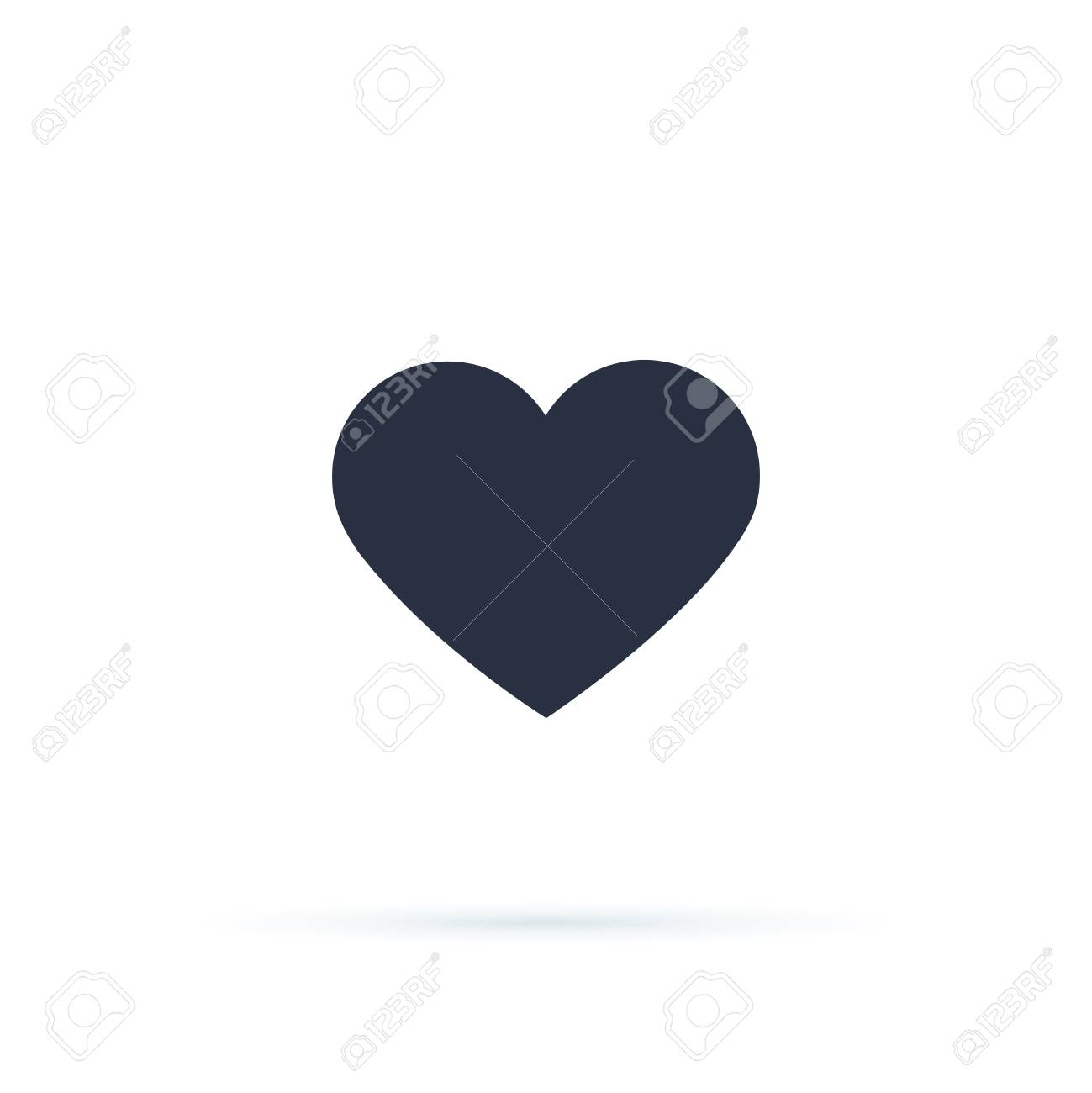 Heart icon vector 10 eps design. Like and Heart icon. Upvote likes buttons. Social nets red heart web buttons isolated on white background. Vector illustaration. Active and not button social network - 127716642