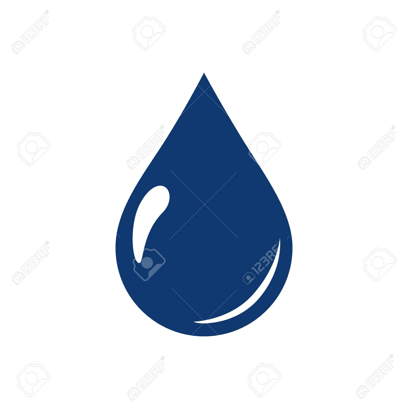 water drops icon symbols vector. Ecological water icon for web page. Aqua environment or nature raindrop simple isolated liquid. Nature freshness and clean concept. - 126772592