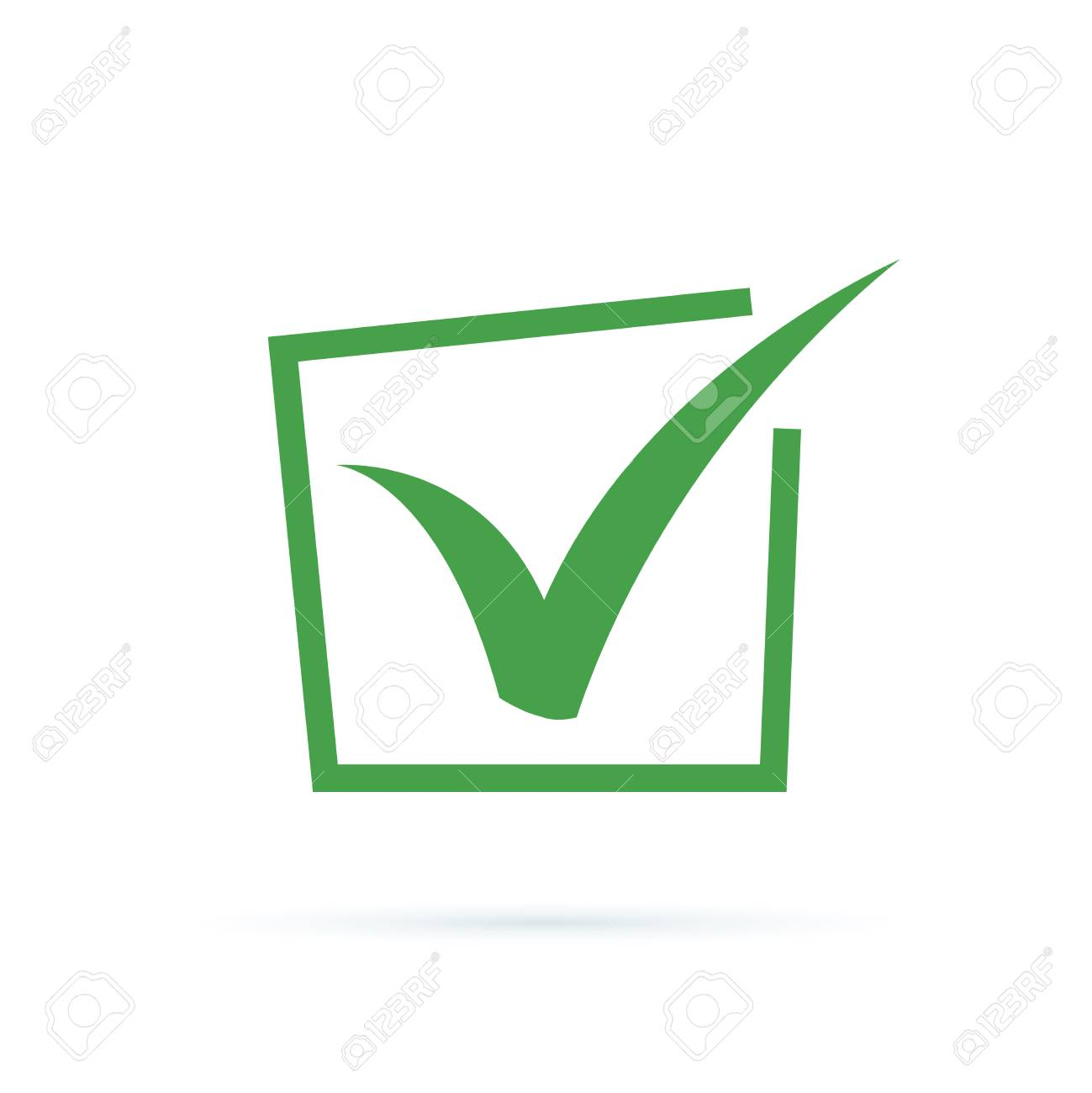 Black check mark icon. Tick symbol, tick icon vector illustration. Flat OK sticker icon. Isolated on white. Accept button. Good for web and software interfaces. Checkmark vector vote, choice, success - 125945291