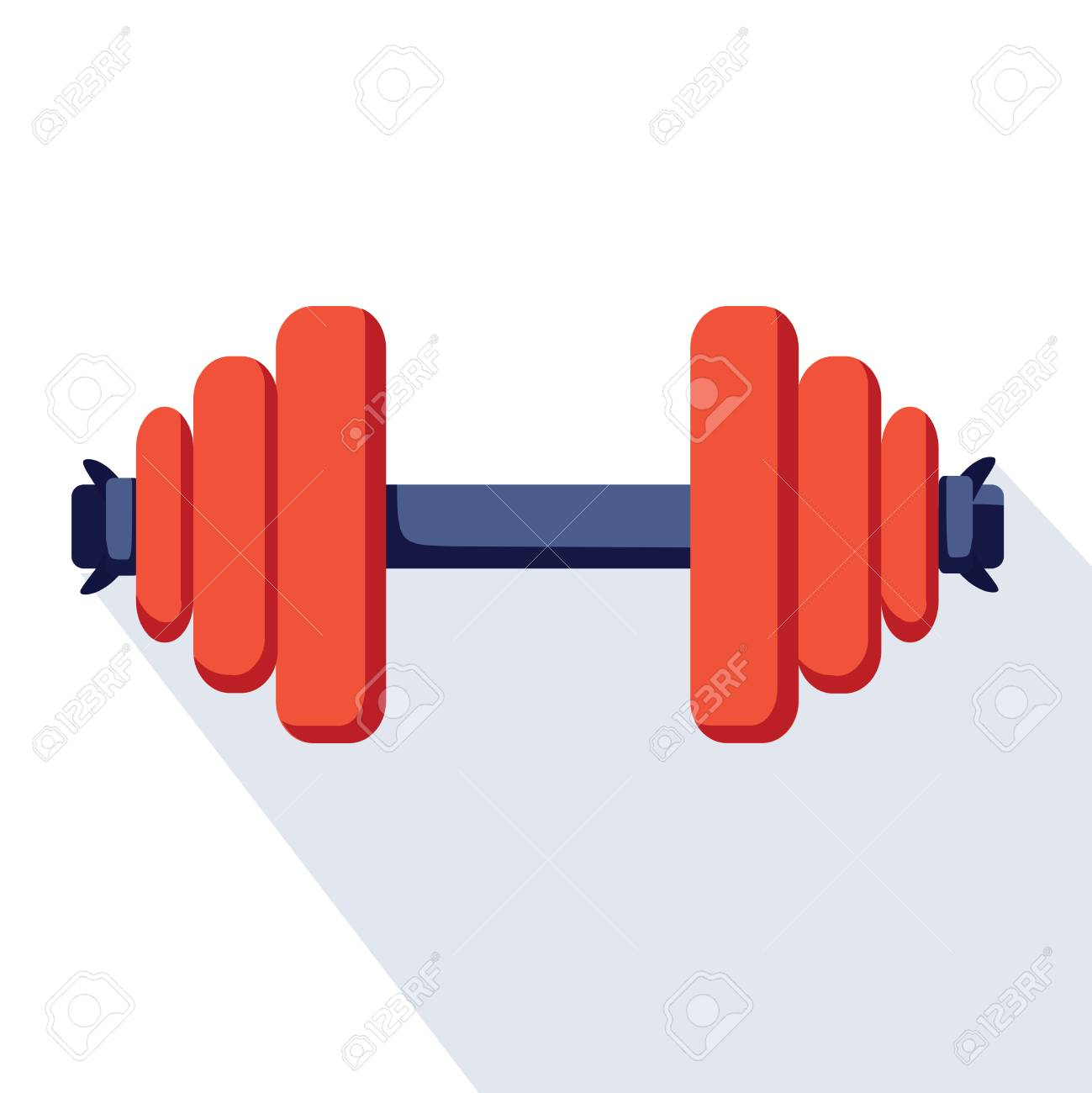 Sport dumbell icon. Flat illustration of sport dumbell vector icon for web design. Sport app logo, bodybuilding and fitness, healthcare concept. Athletic excercises prograpp sign with dumb bell. - 125733799