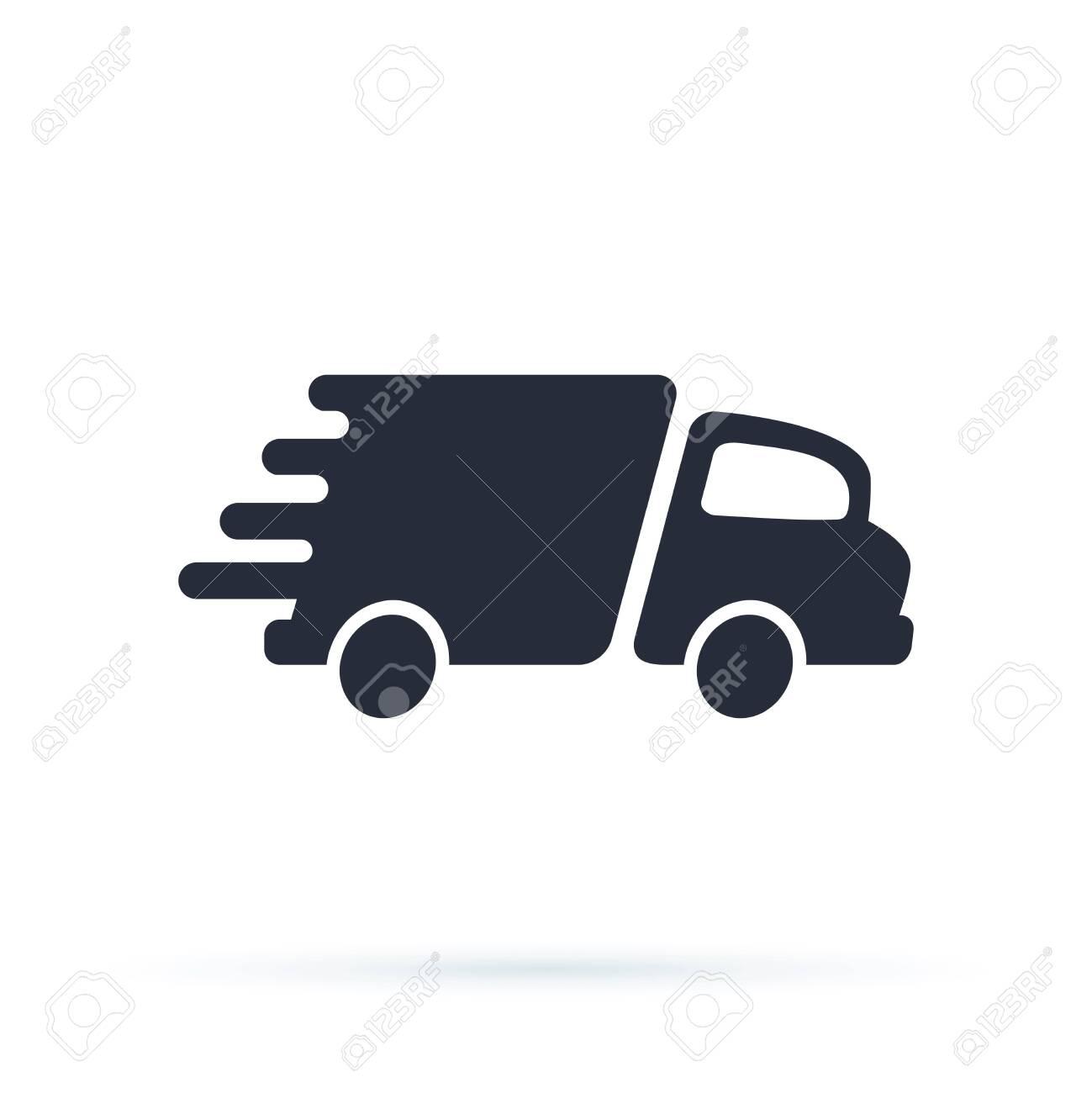 Delivery Truck Icon Vector Design Logo Template - 121663449