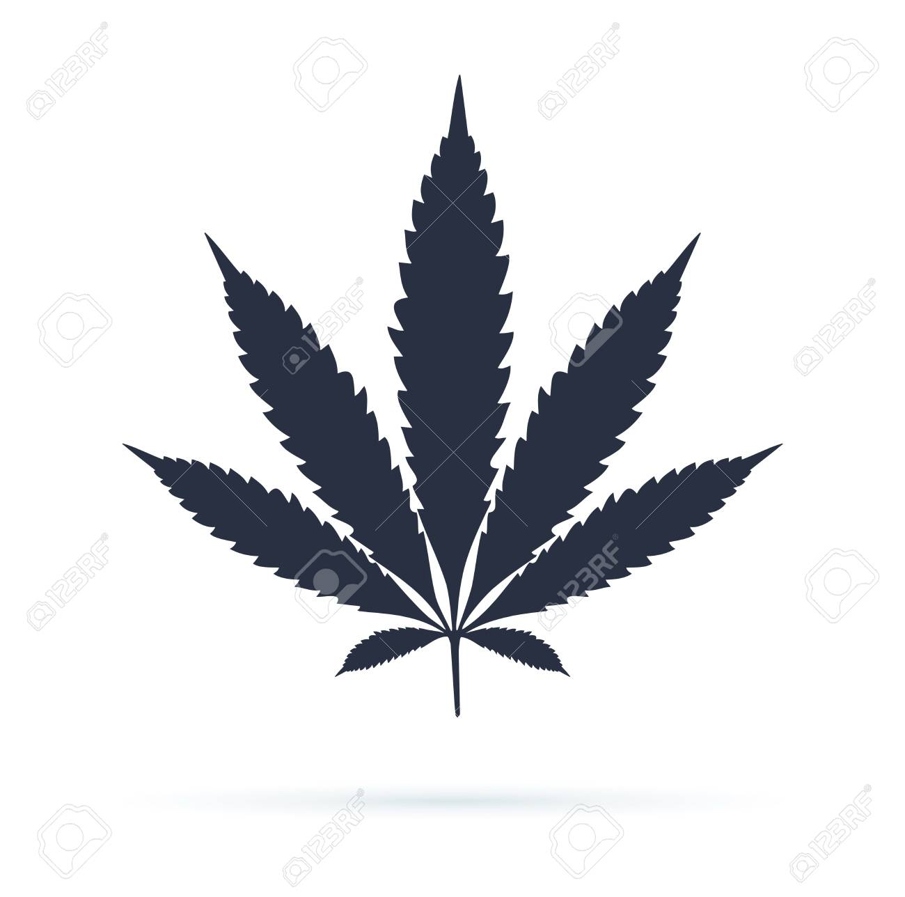 Cannabis sign icon. Vector icon. Dope ganja symbol, cannabis leaf silhouette. Medical weed legalize drug concept sign. - 121663490
