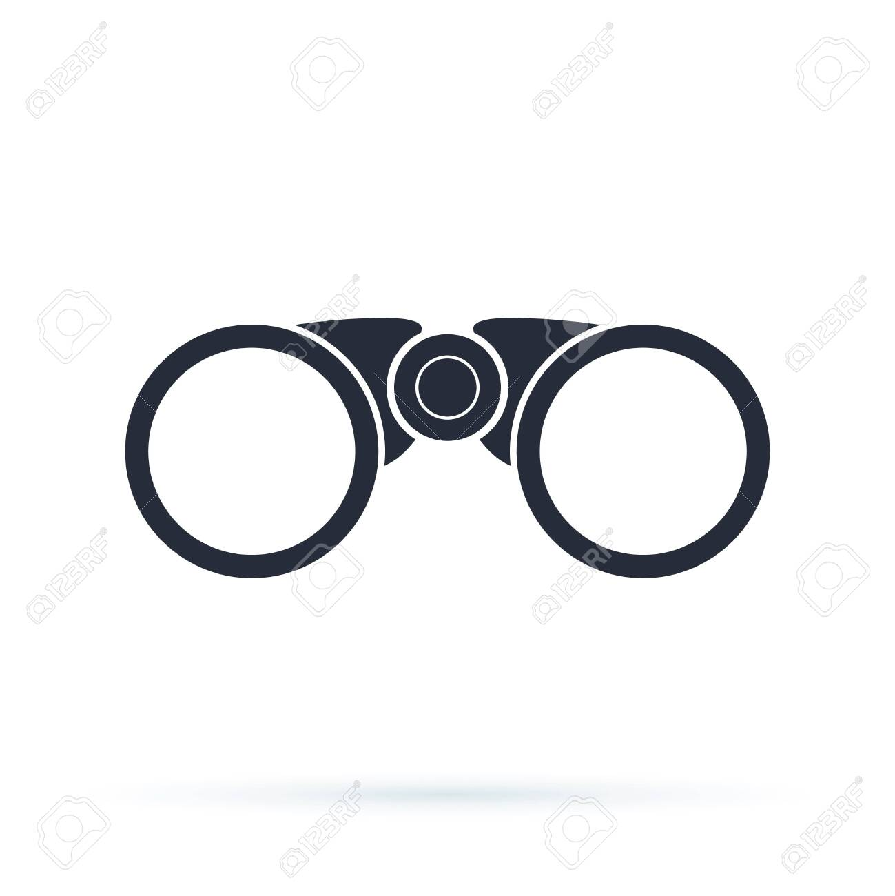 Binoculars icon on white background. Binocular field glasses flat vector icon for apps and websites. Exploration, discovery, optical equipment. Navigation concept. Can be used for travel, navigation - 123990191